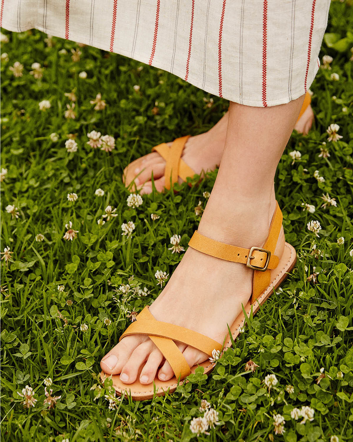 The Dawn Sandal | Tawny Leather