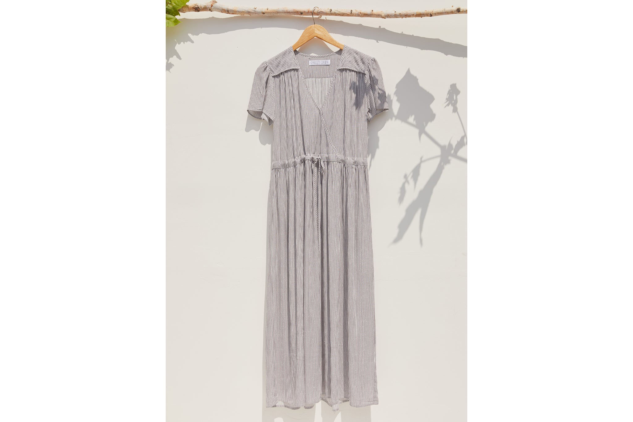 The Dawn Dress | Pewter Stripe