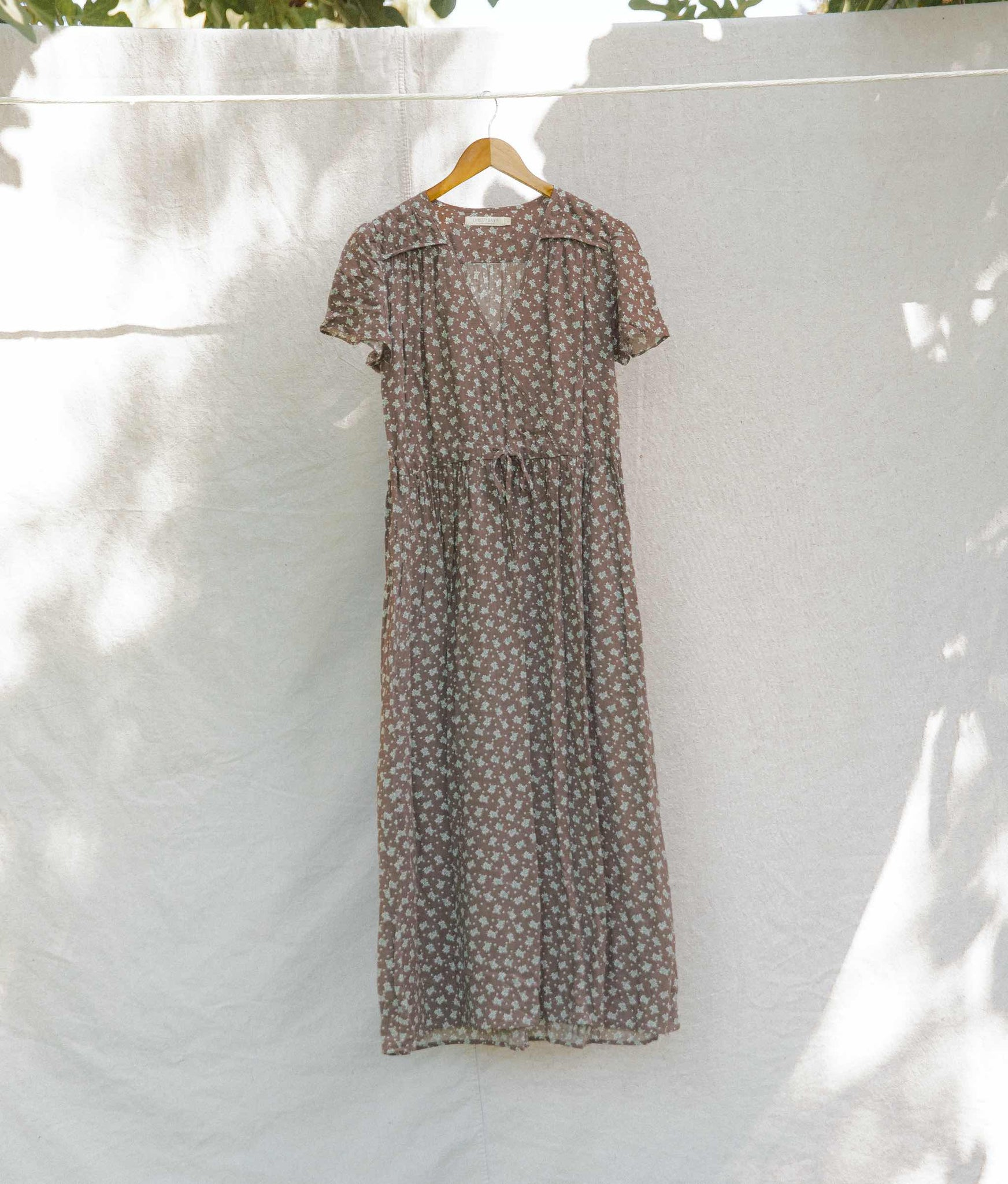 The Dawn Dress | Washed Hickory Floral (4-of-a-Kind)