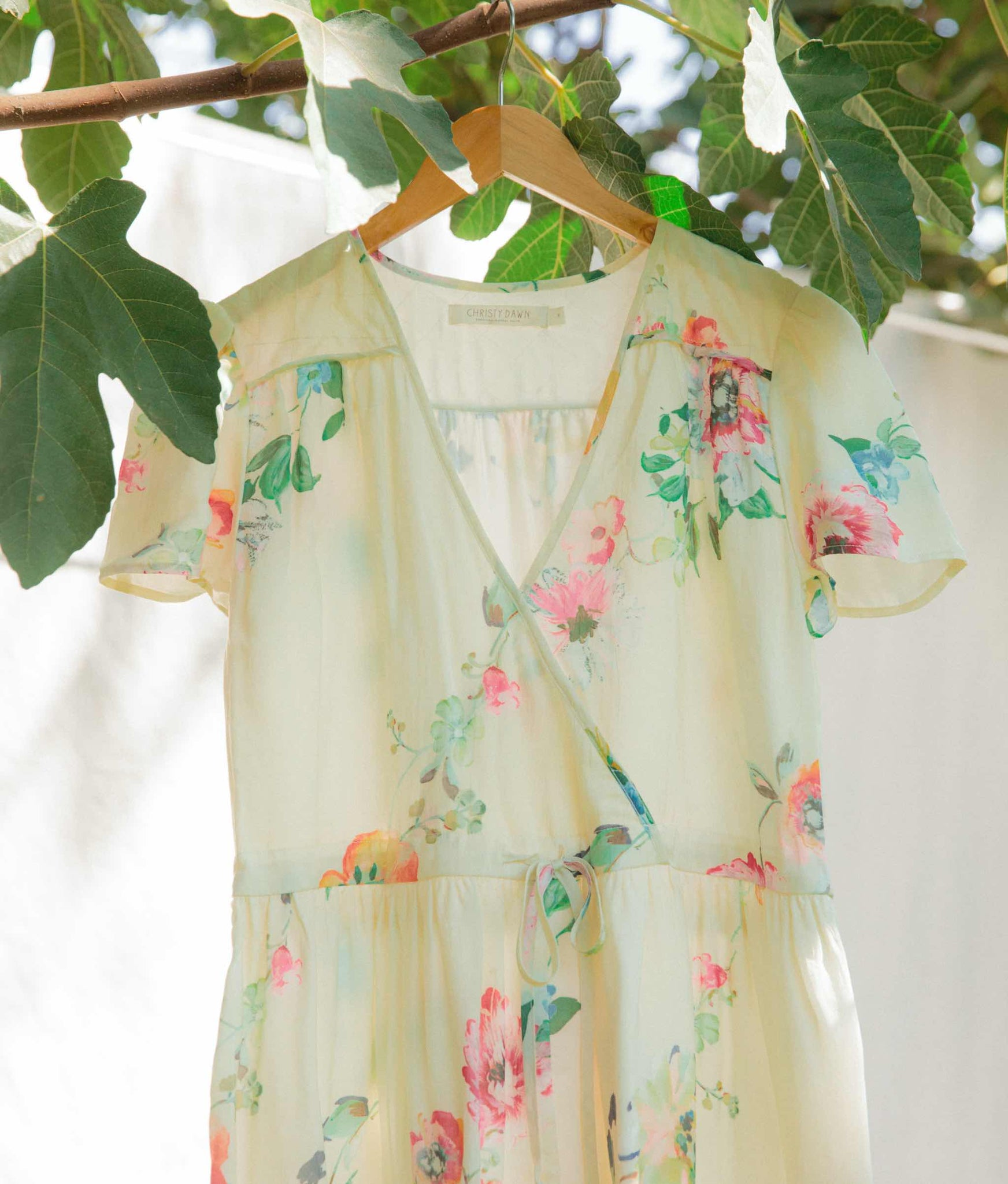 The Dawn Dress | Hibiscus Floral Silk (Lined & 4-of-a-Kind)