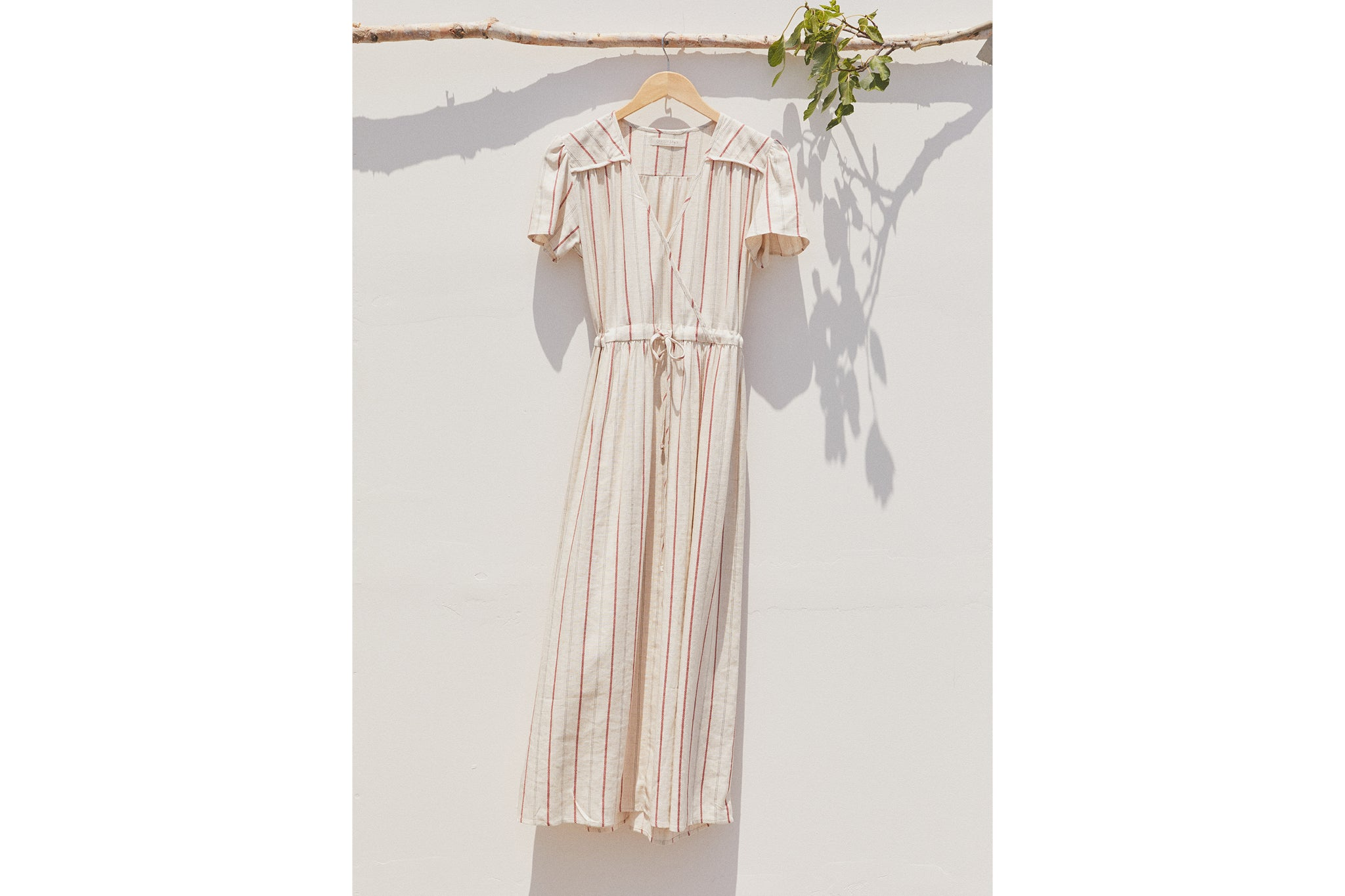 The Dawn Dress | Crimson Stripe