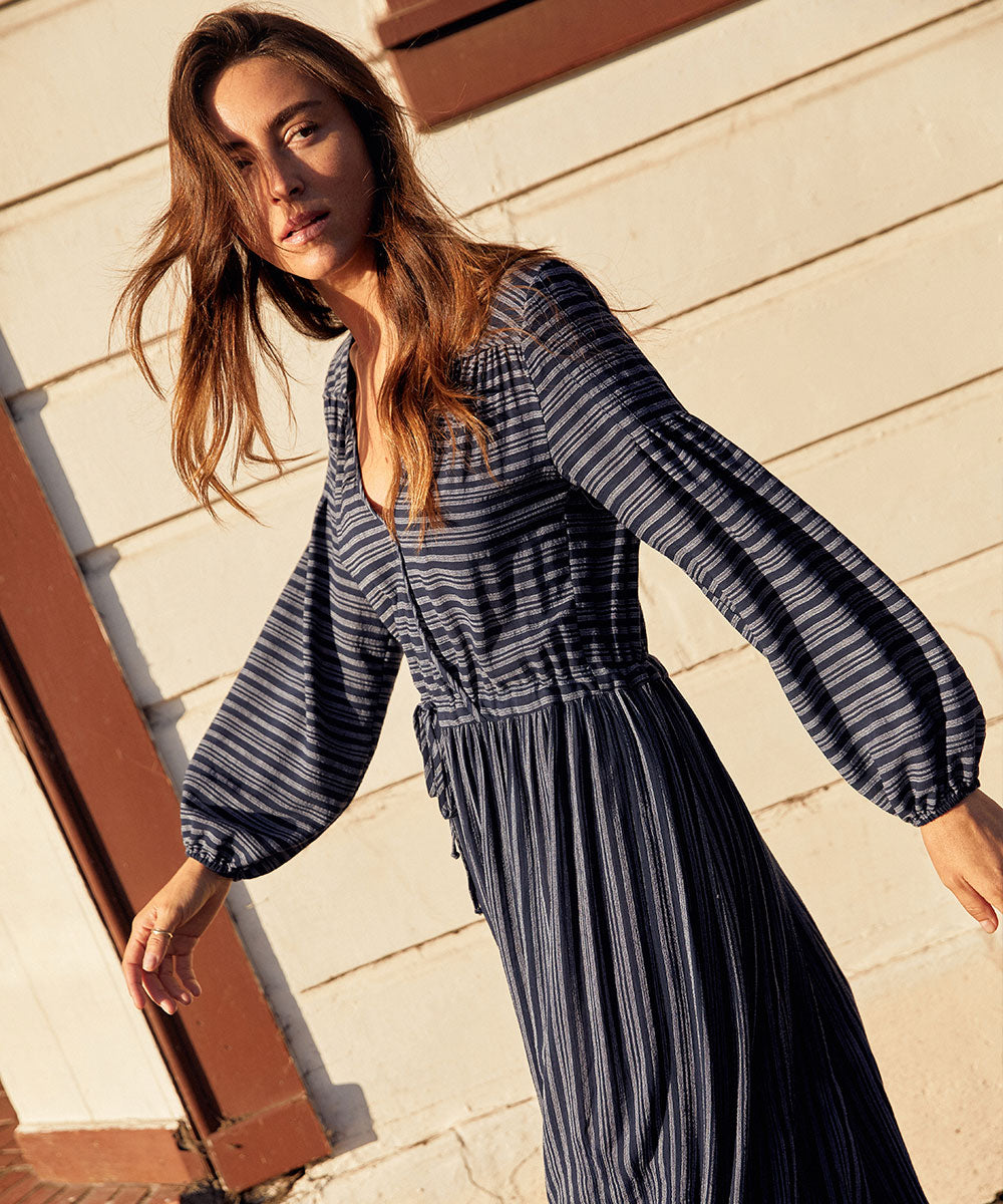 The Delilah Dress | Midnight Stripe