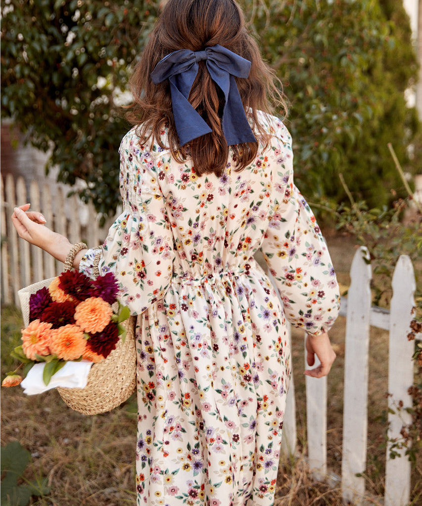 The Delilah Dress | Pansy Bouquet Silk (7 of a kind!)
