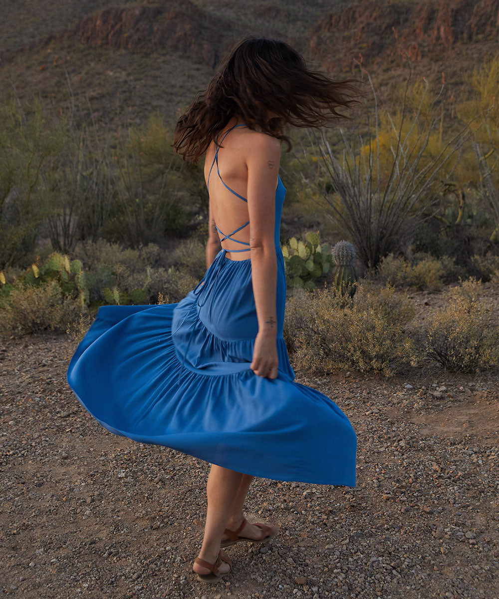 The Delphine Dress | Azul