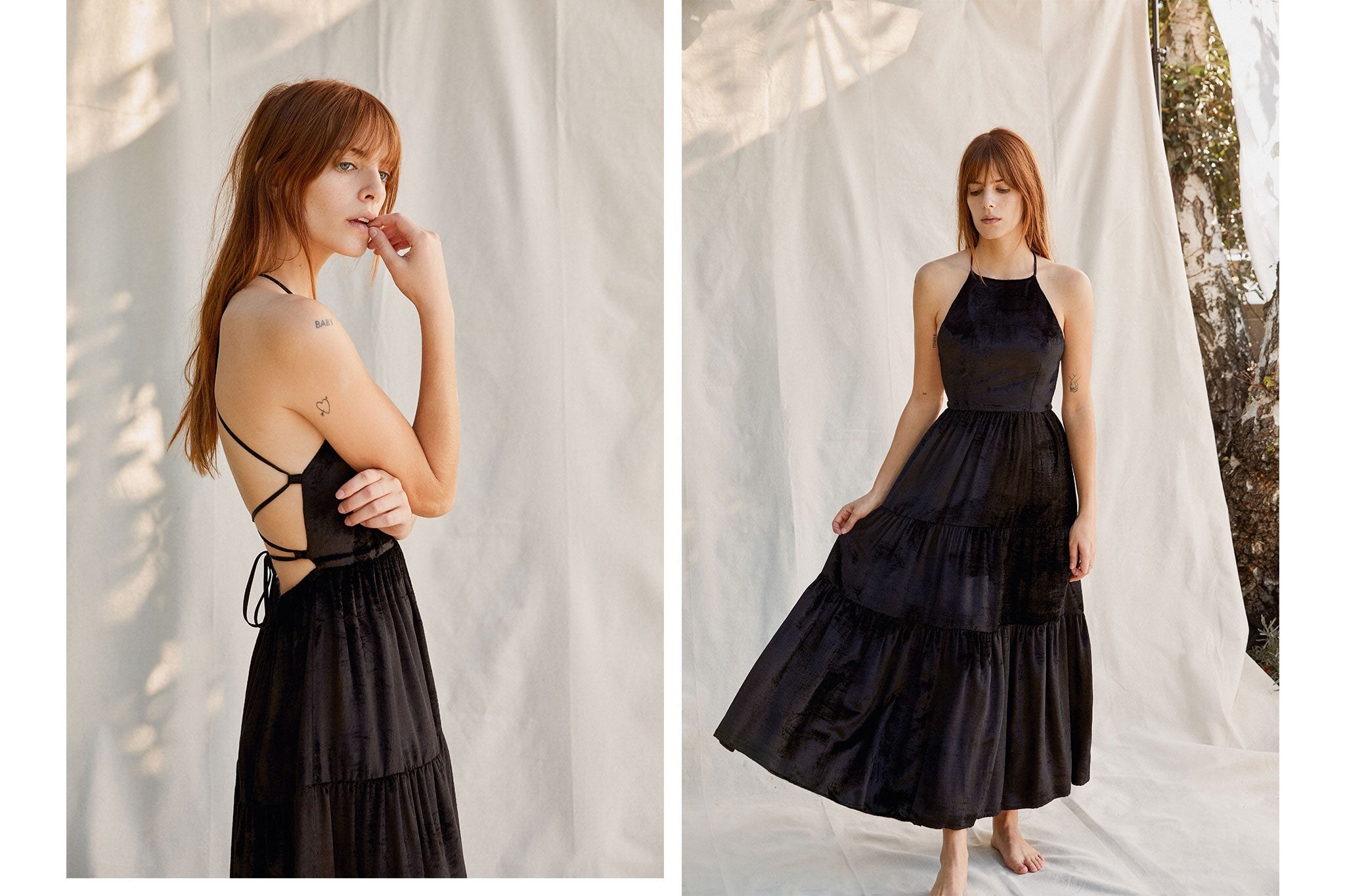 The Delphine Dress | Sable Velvet