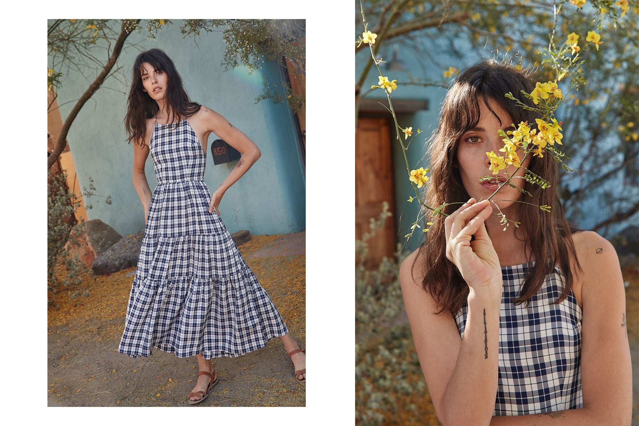 The Delphine Dress | Midnight Plaid