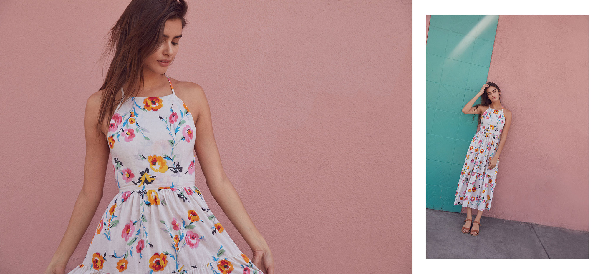 The Delphine Dress | Desert Floral (Cotton)