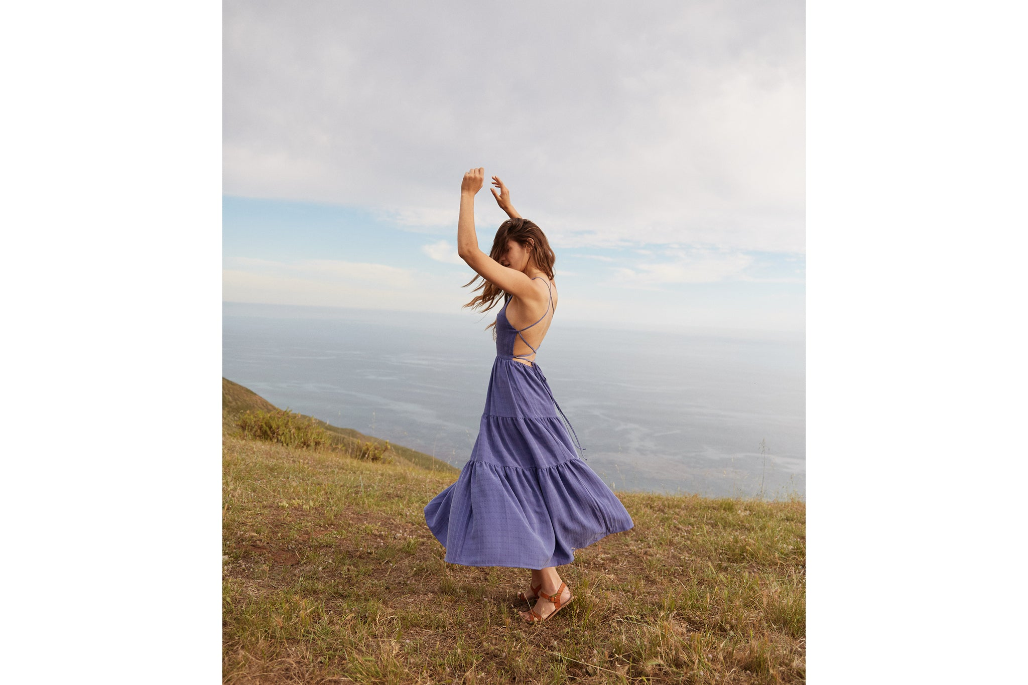 The Delphine Dress | Woven Iris
