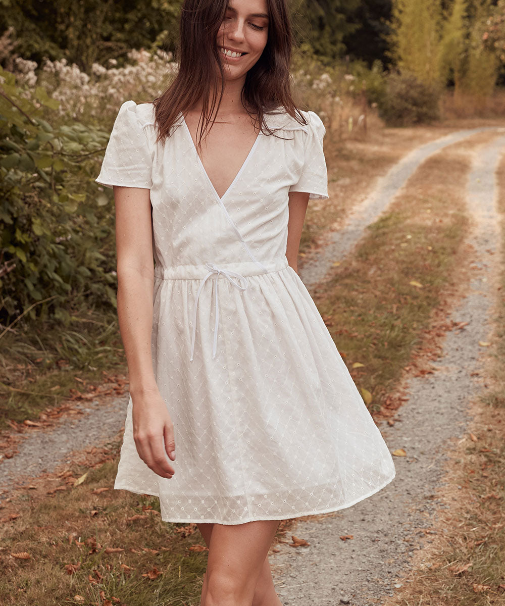 The Donna Dress | Alabaster Embroider (Cotton)