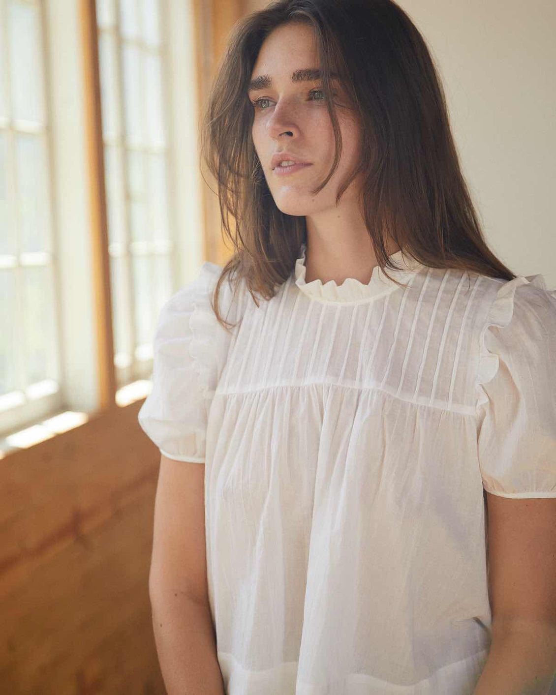 The Eisley Top | Washed Alabaster