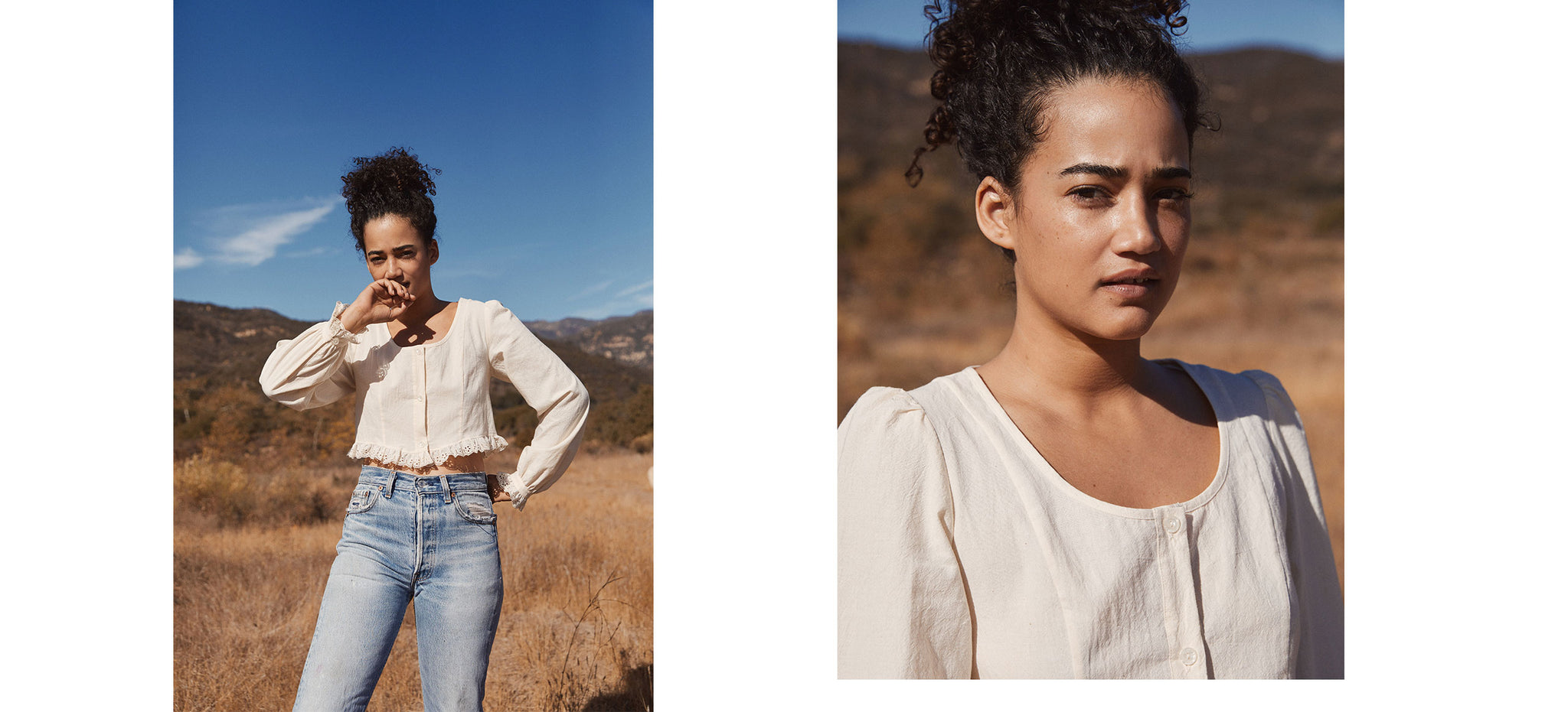 The Ella Crop Top | Linen