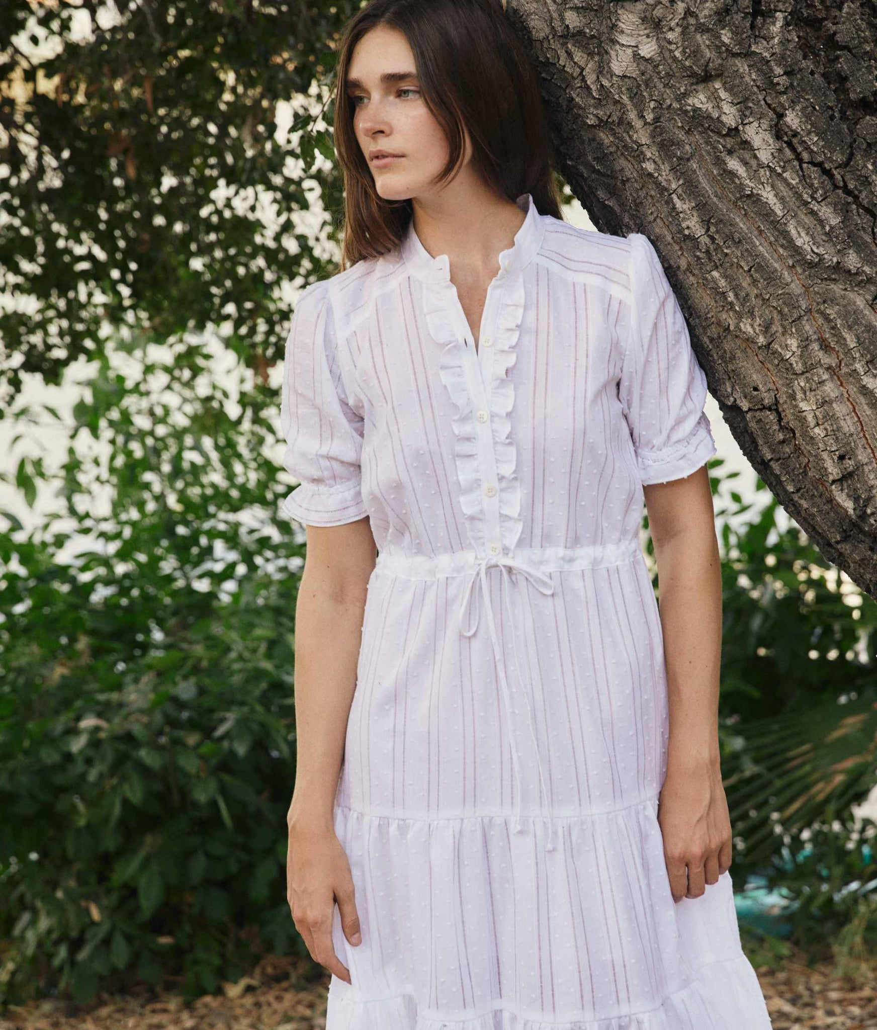 The Elle Dress | Alabaster Stripe