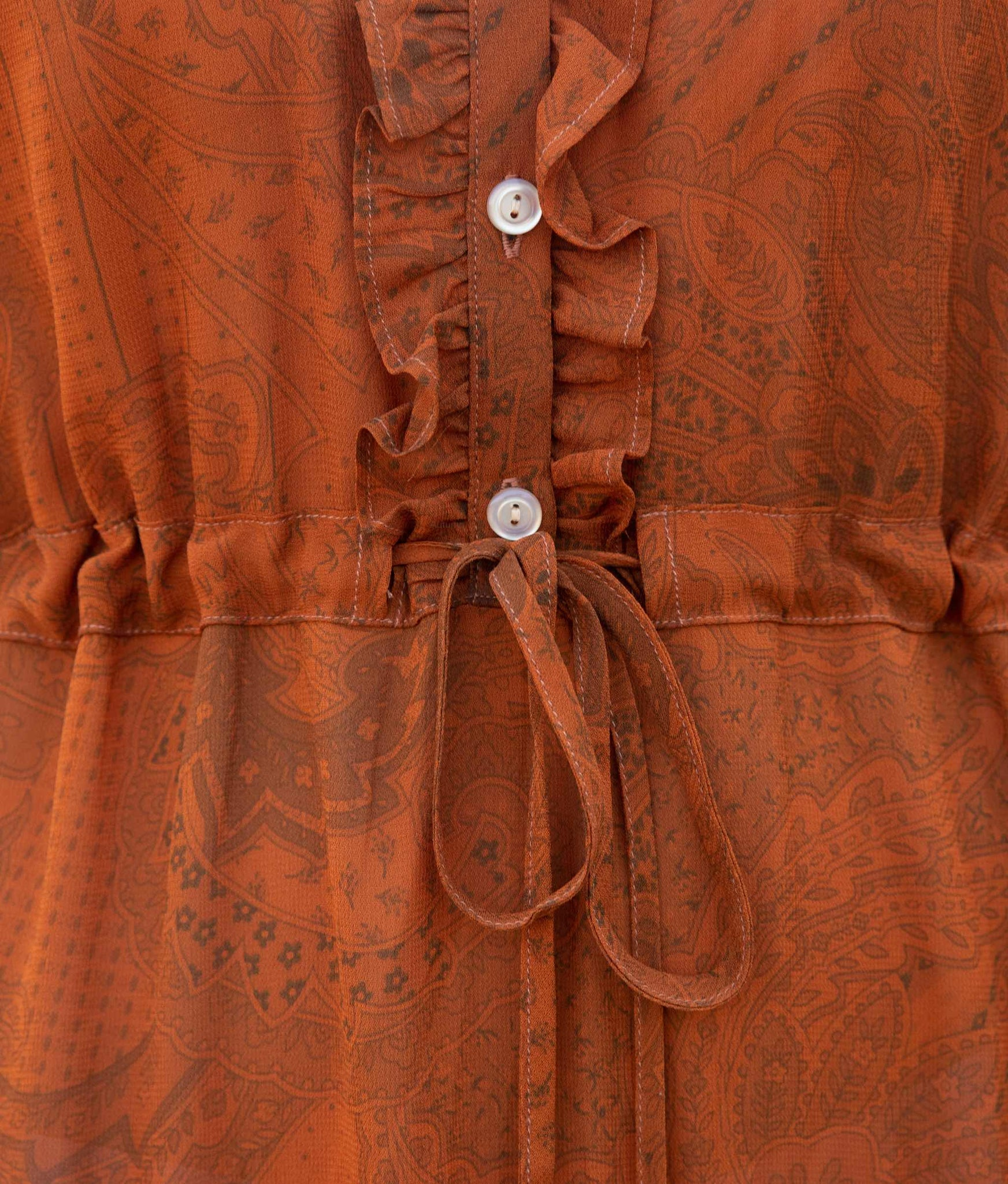 The Elle Dress | Pumpkin Paisley