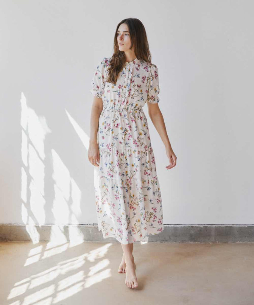 The Elle Dress | Alabaster Garden Silk