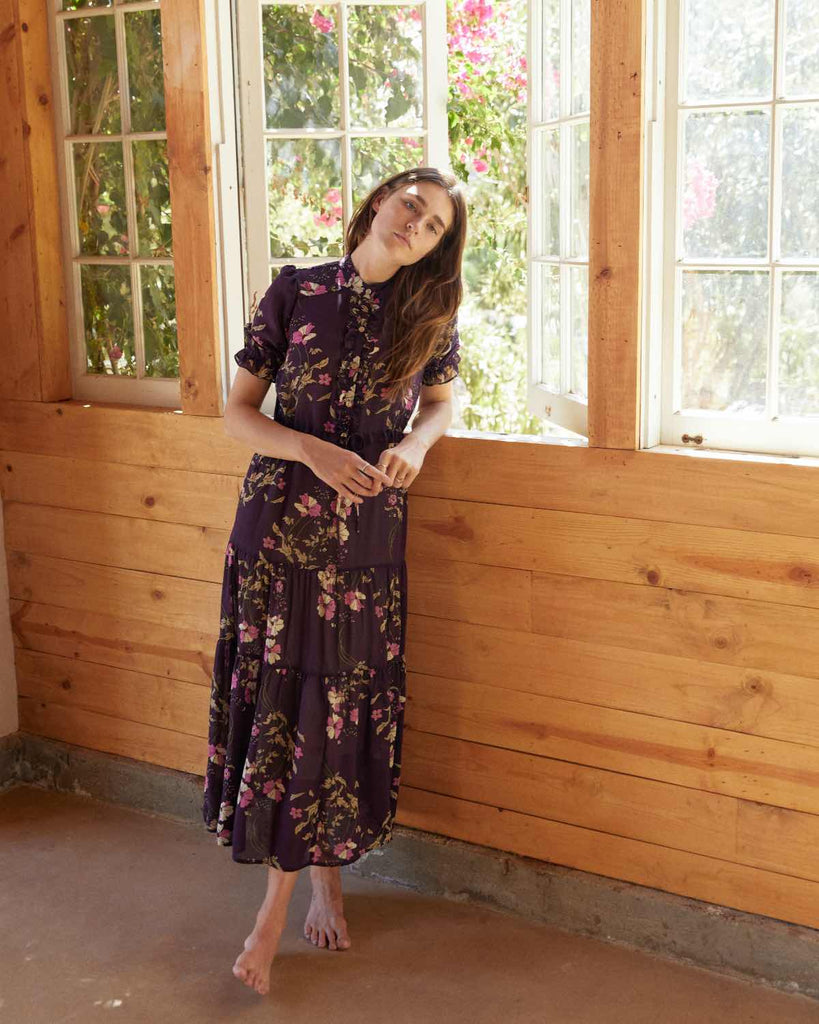 The Elle Dress | Grape Floral