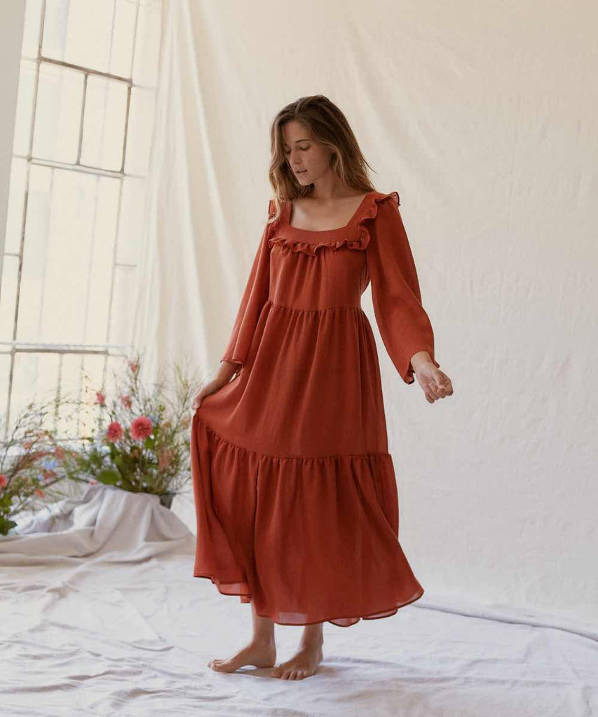 The Elodie Dress | Rust
