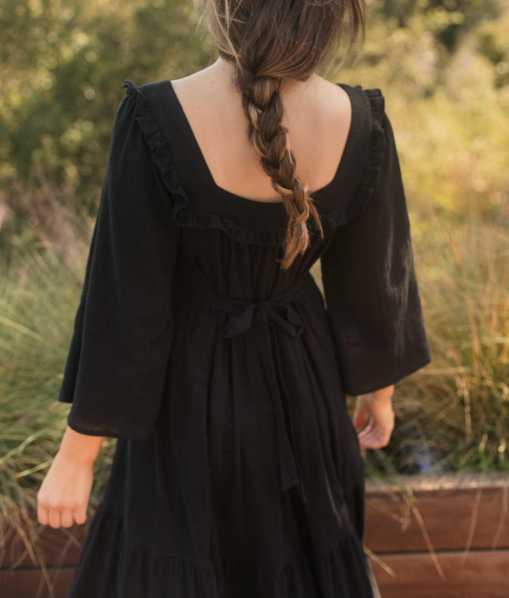 The Elodie Dress | Washed Noir