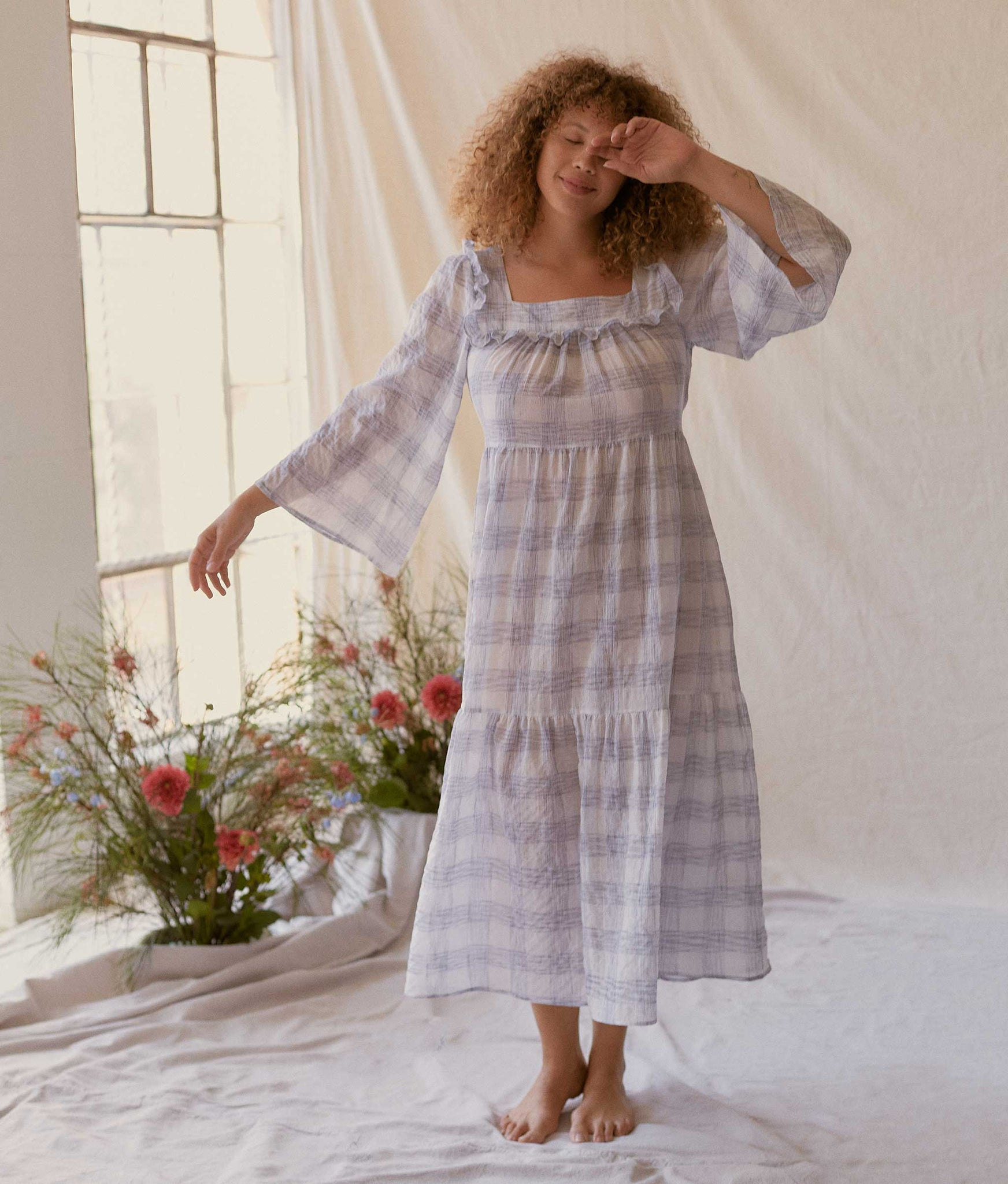 The Elodie Dress | Grey Checker