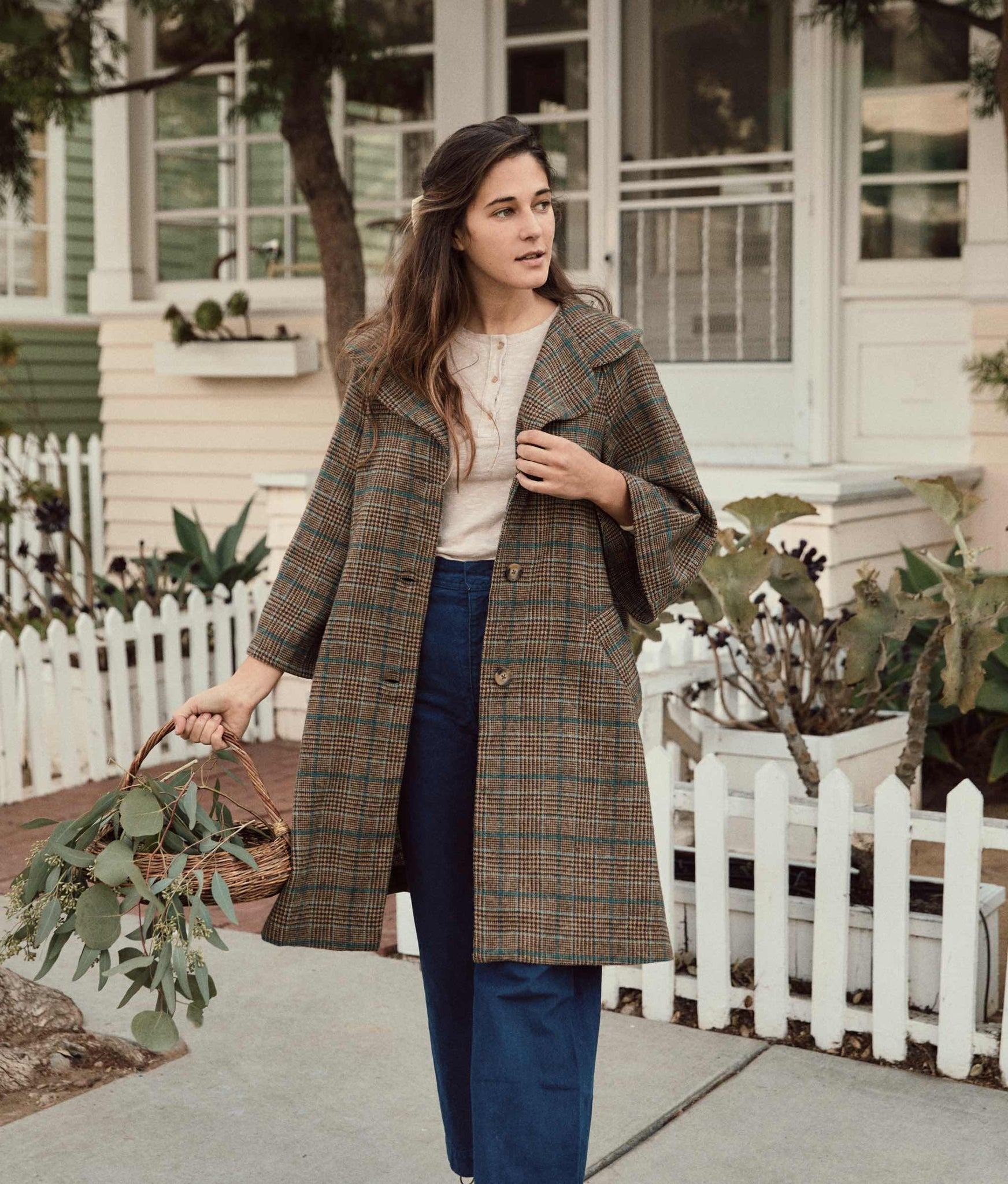 The Everly Coat | Winter Plaid