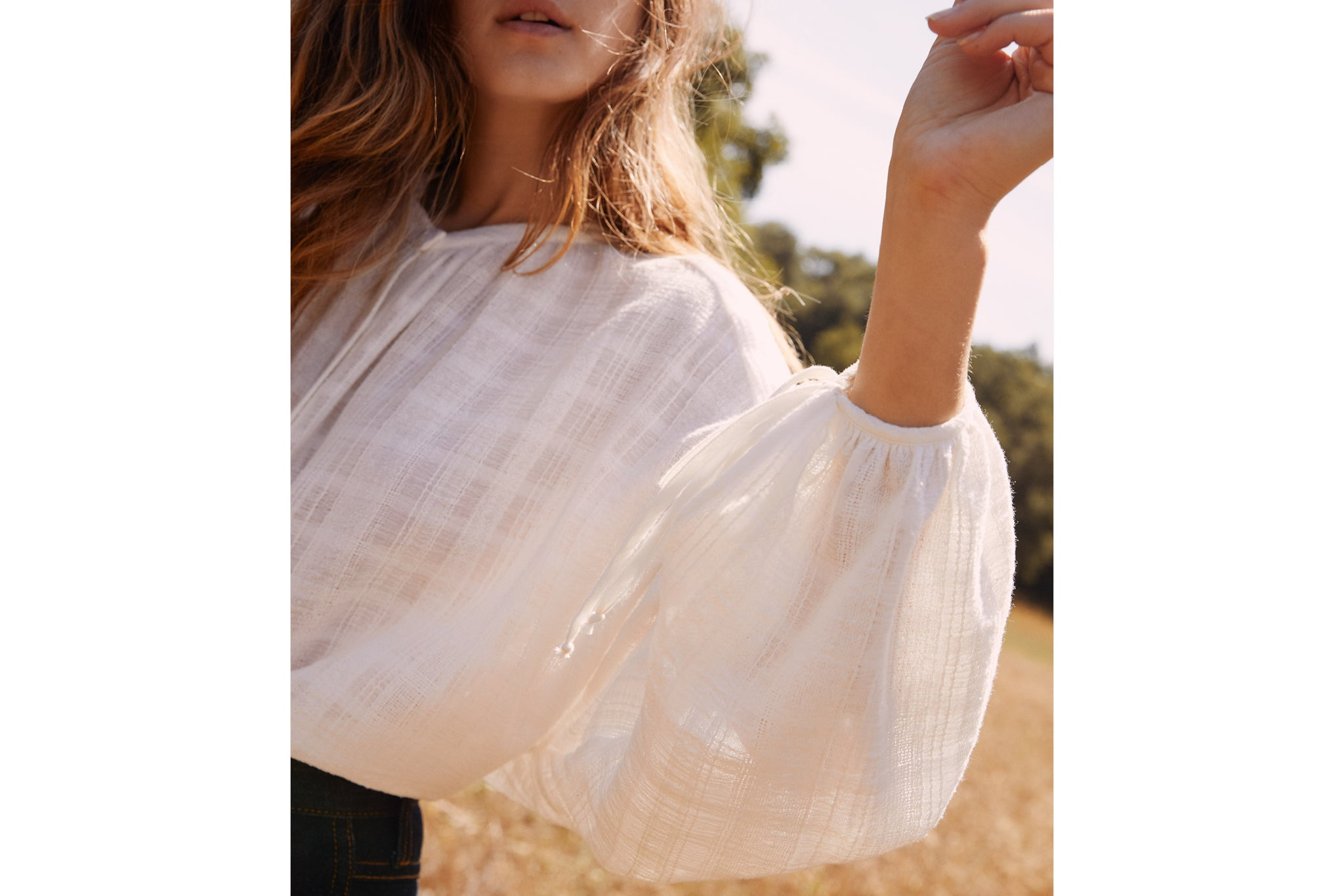 The Faye Top | Alabaster