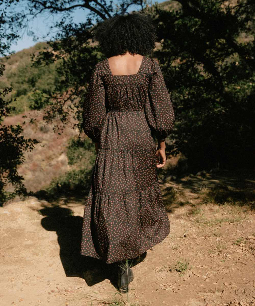 The Finley Dress | Noir Pollinator Garden