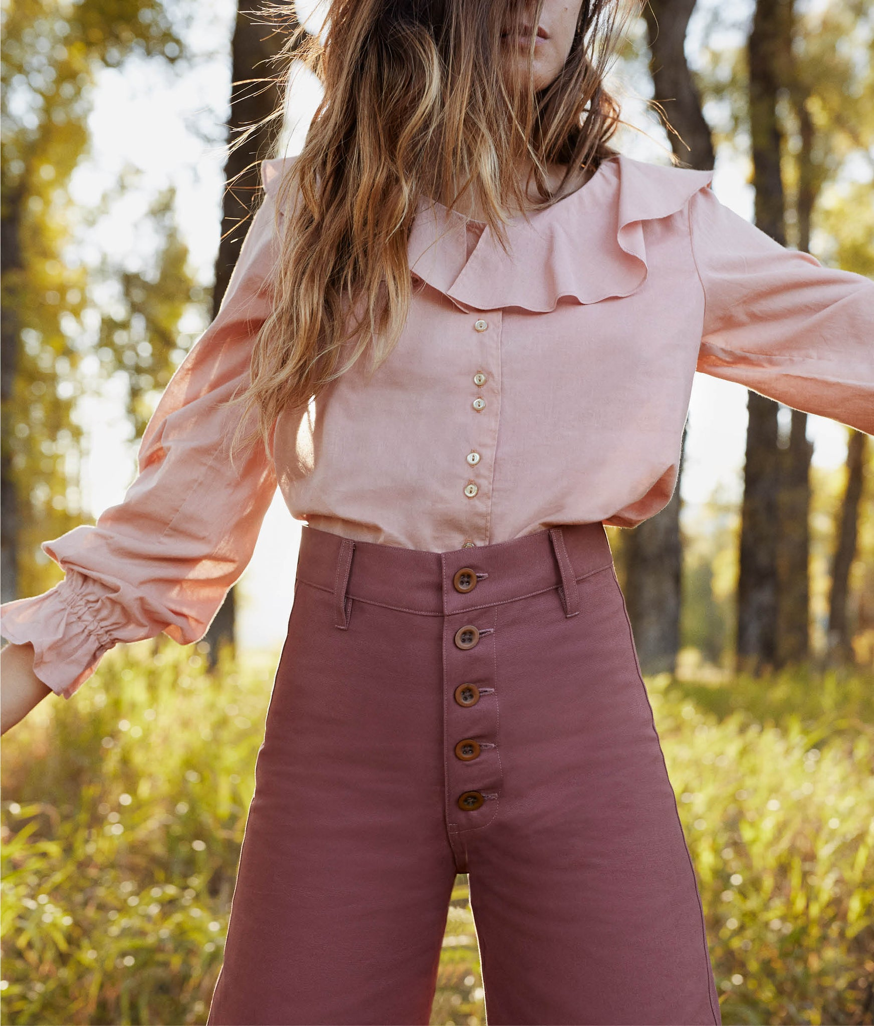 The Fleur Top | Washed Rose