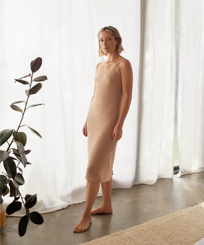 The Flora Slip (Long) | Beige