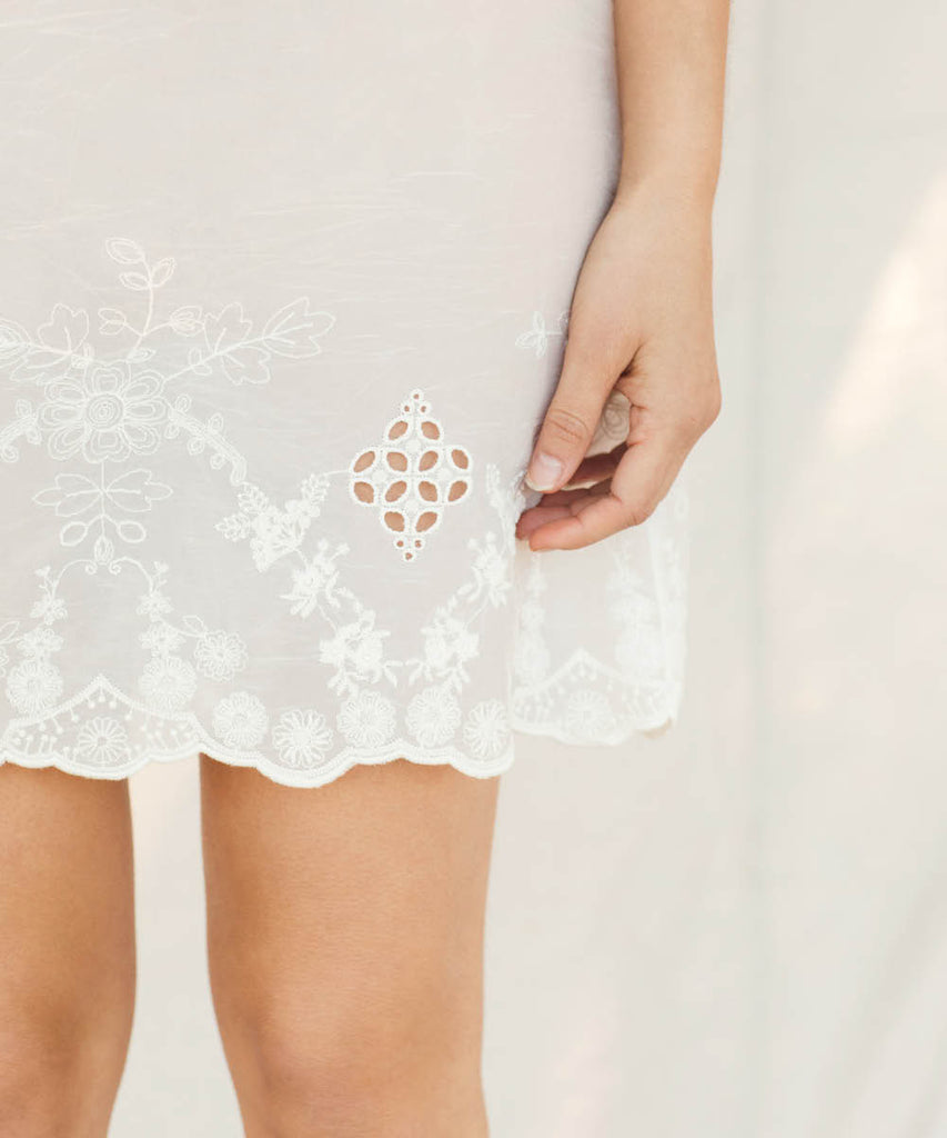 The Flora Slip (Short) | Lace Embroider image 4