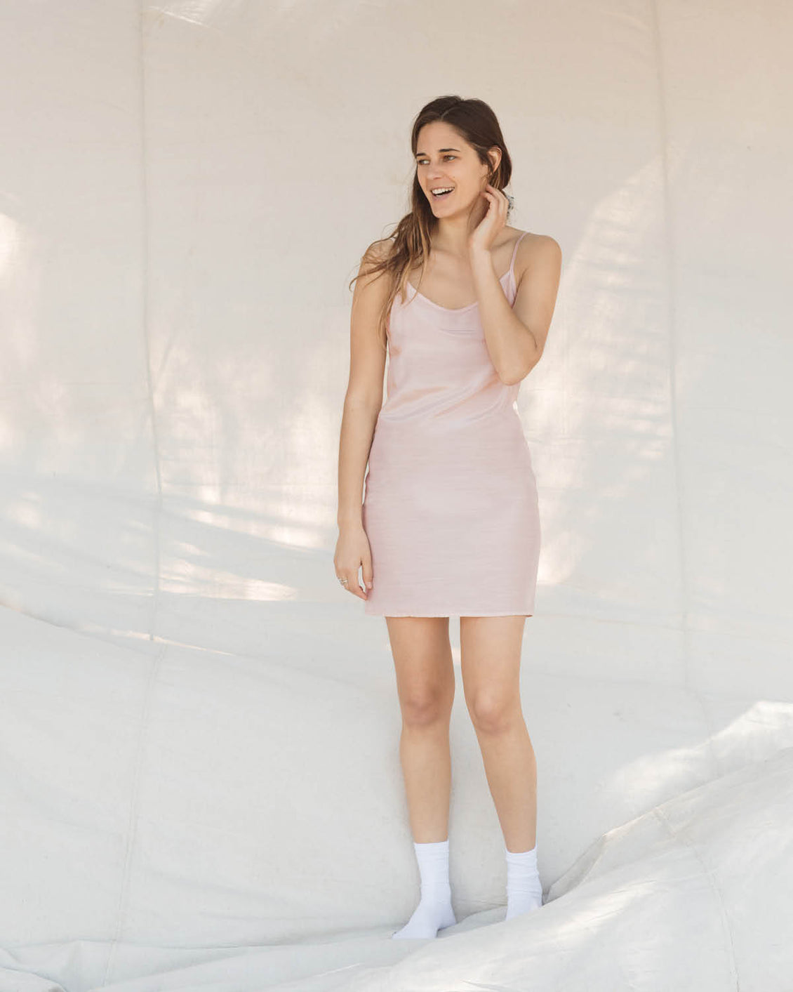 The Flora Slip (Short) | Blush