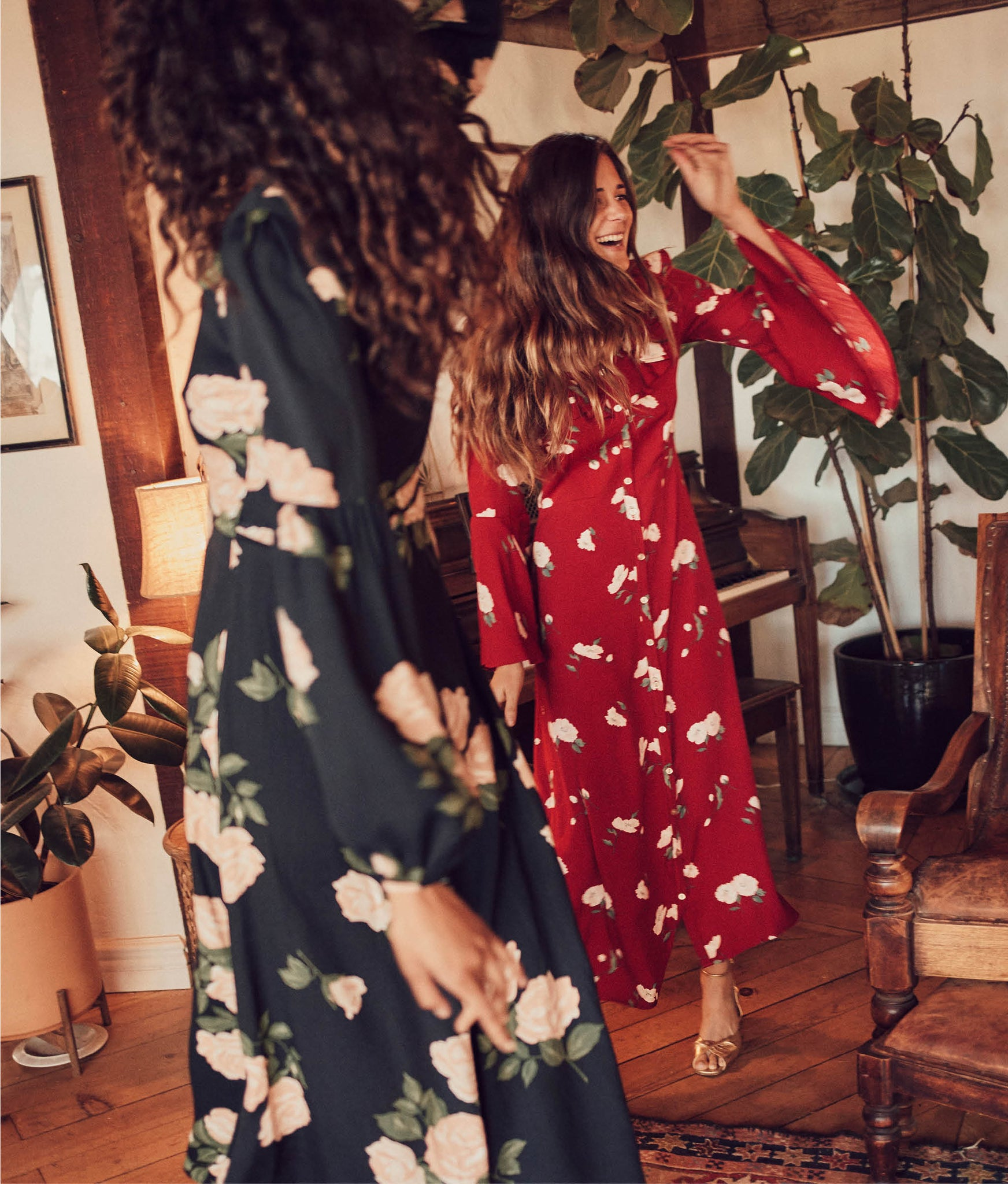 The Florence Dress | Crimson Floral
