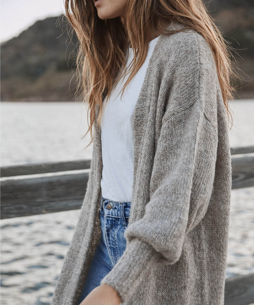 The Frankie Cardigan | Grey Knit