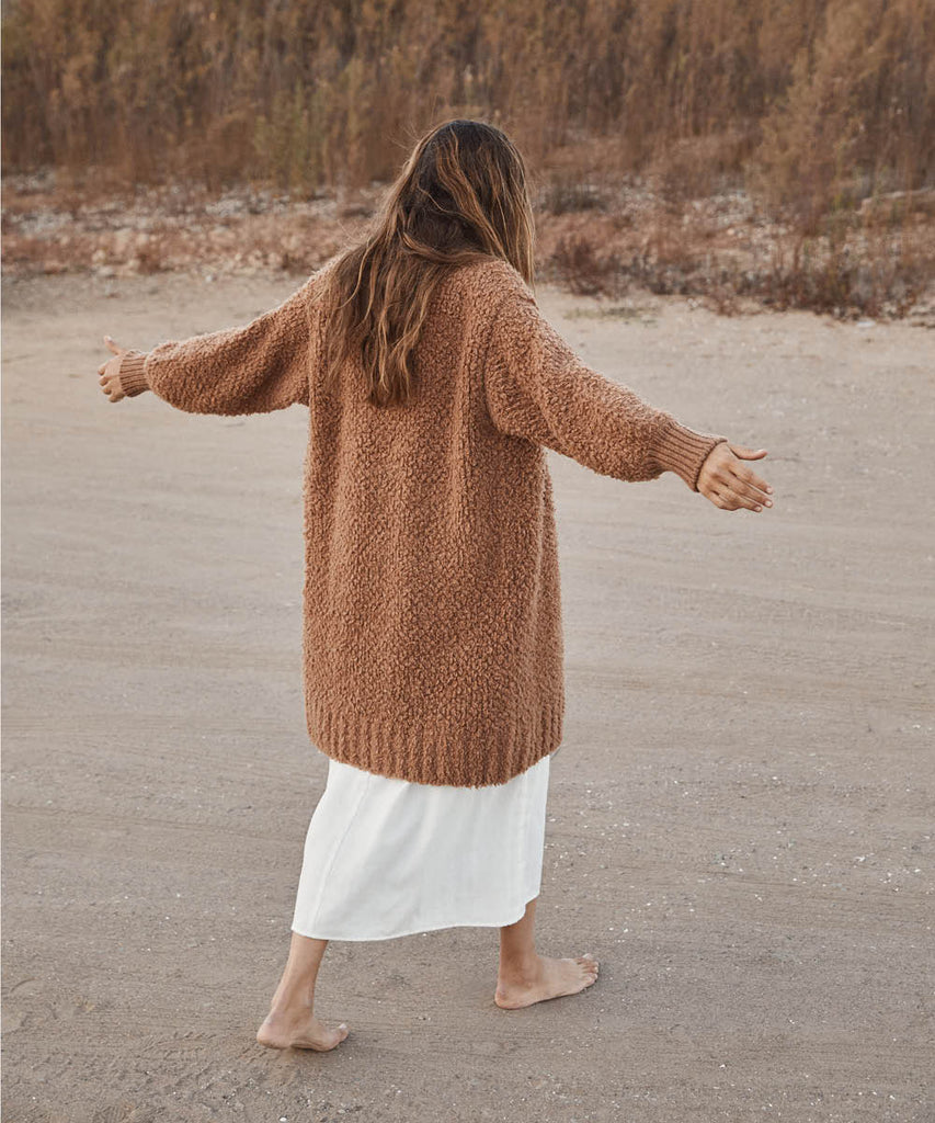 The Frankie Cardigan | Clay Knit image 2