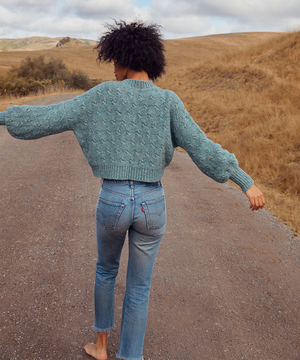 The Frannie Sweater | Sea Mist