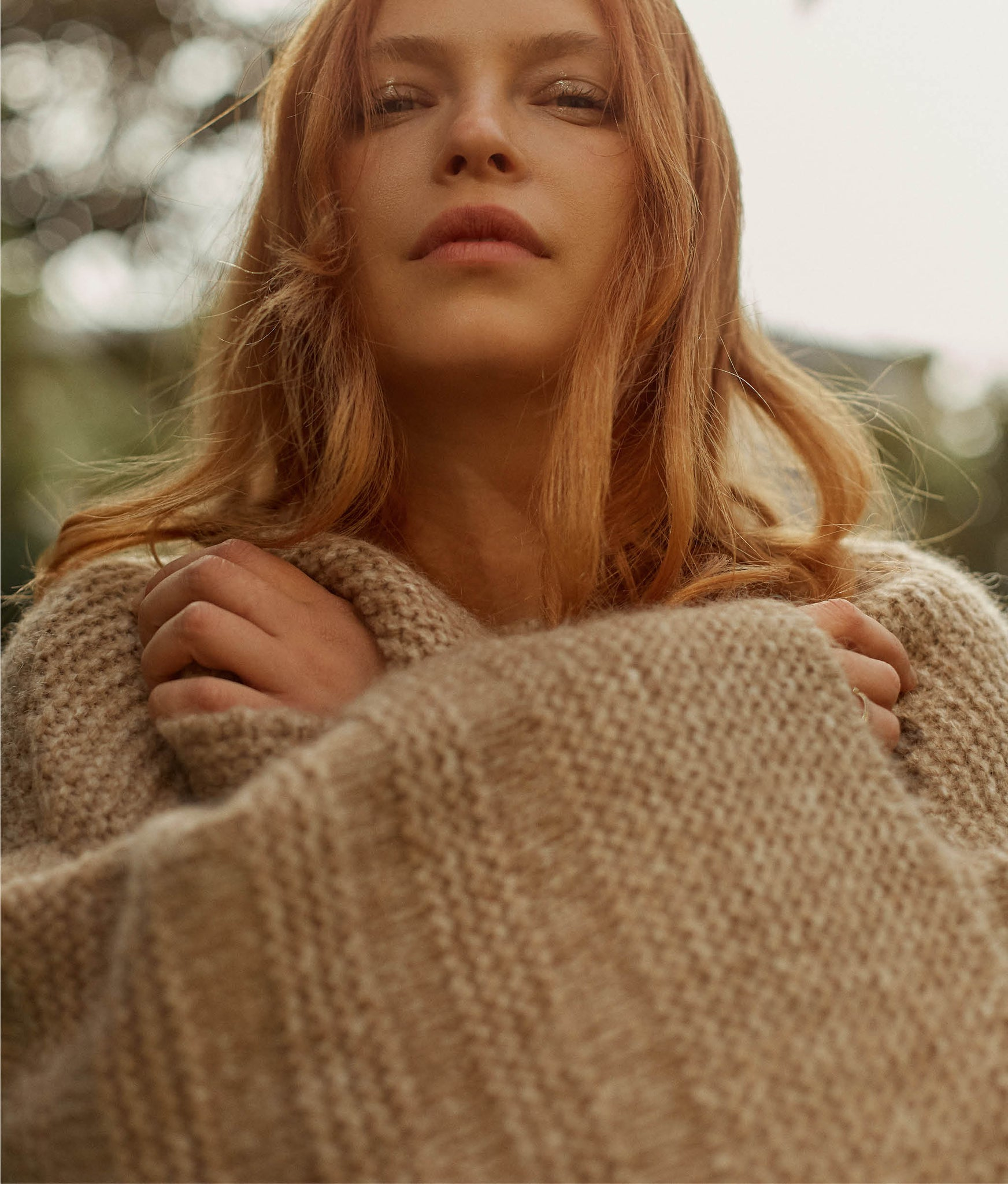 The Freya Sweater | Warm Pine Knit