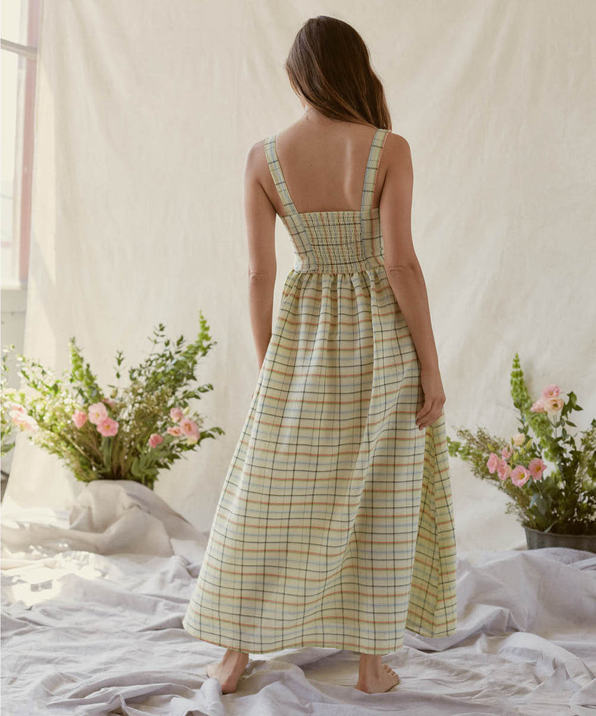 The Gwen Dress | Lemon Checker