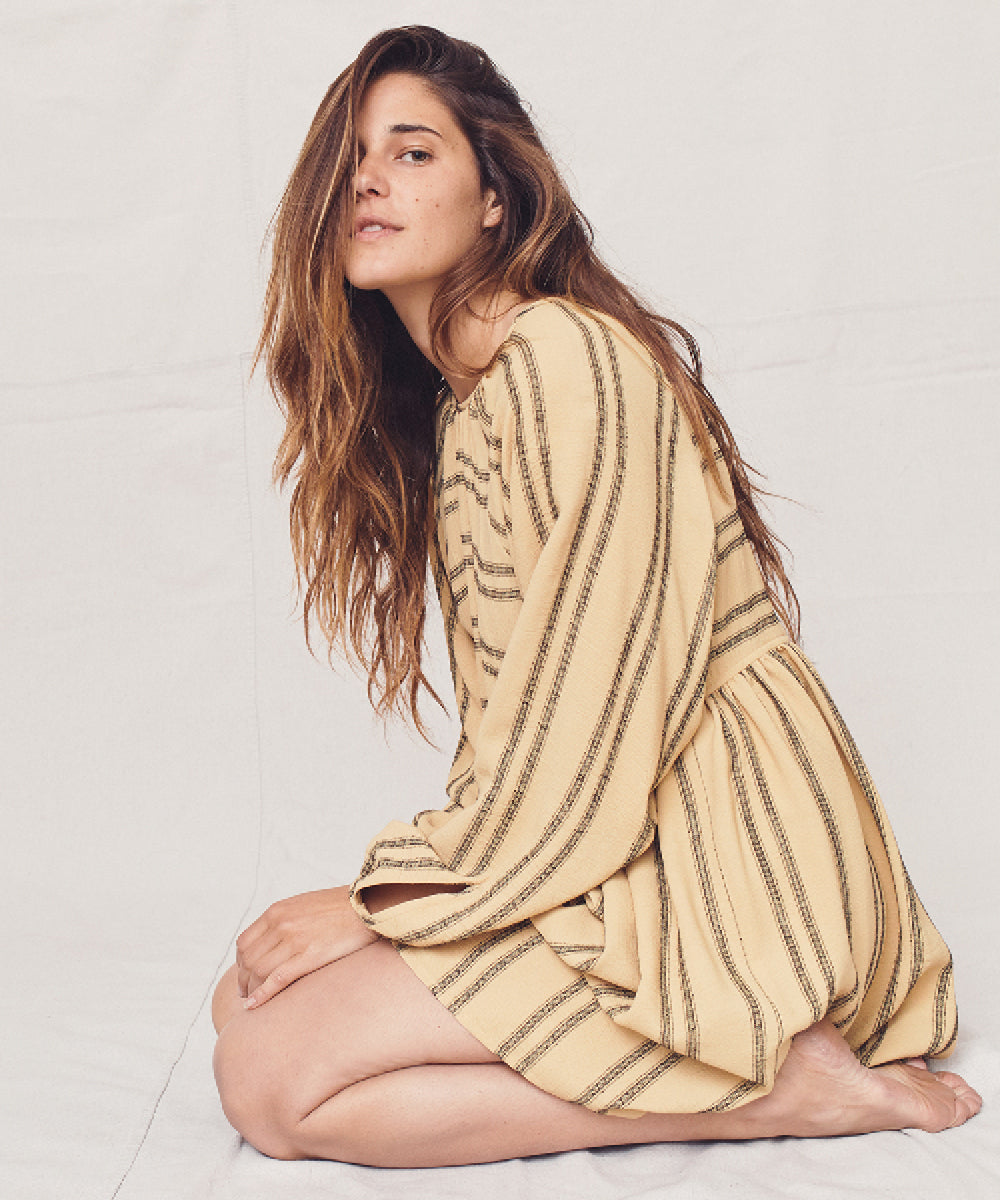The Hudson Dress | Honey Stripe