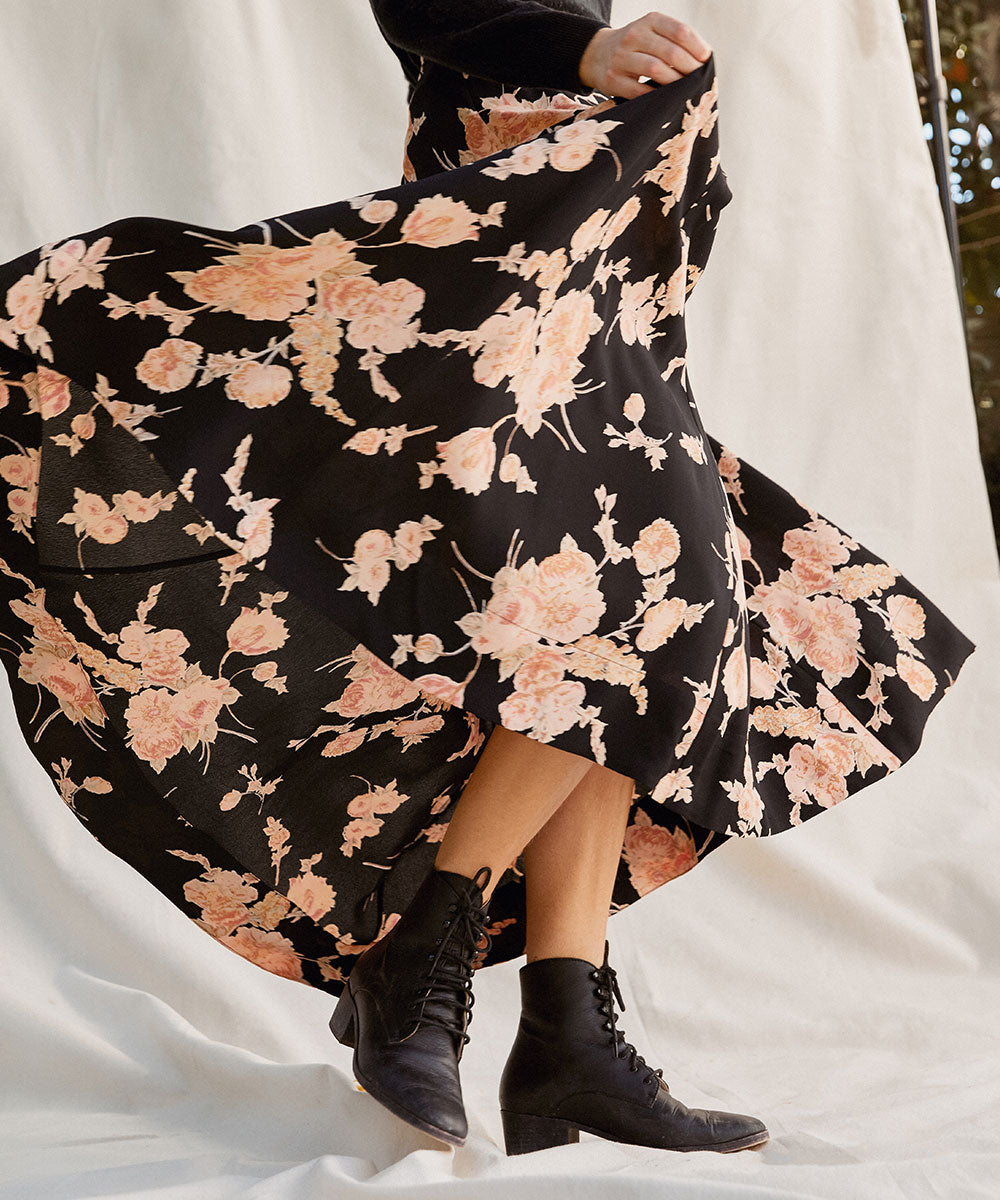 The Ida Skirt | Night Carnation
