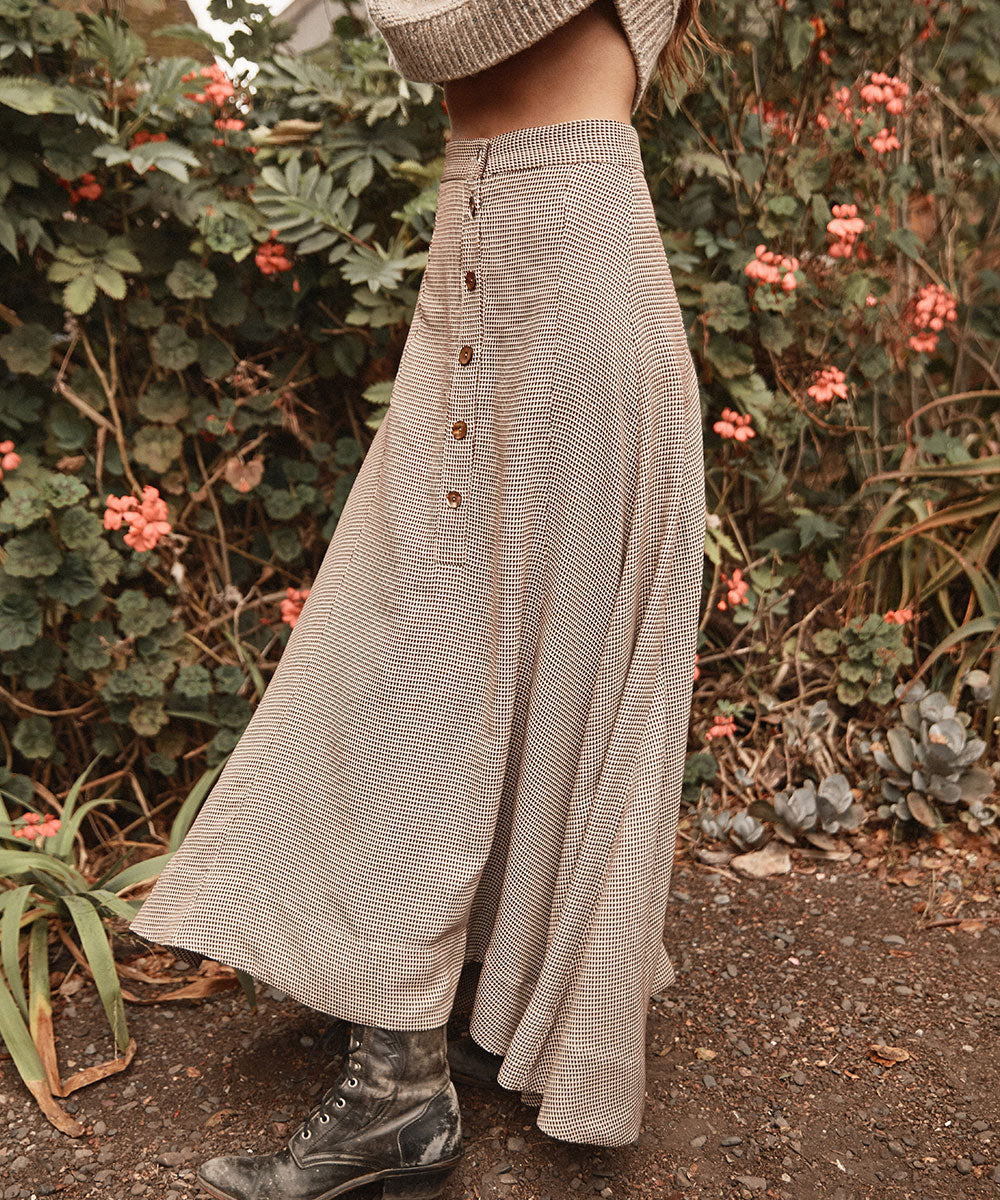 The Ida Skirt | Carob Lattice
