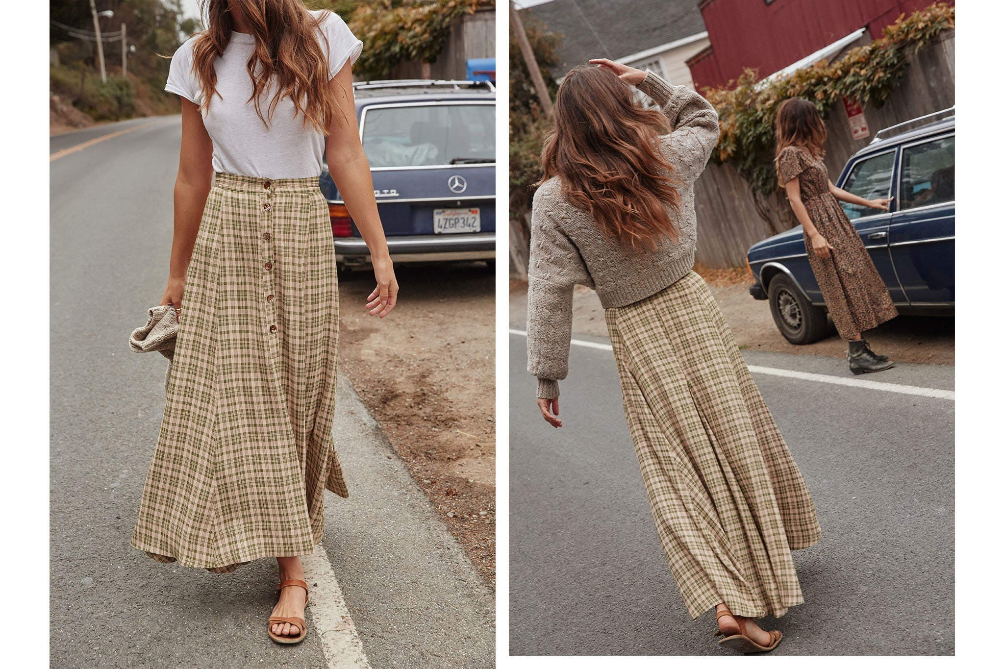 The Ida Skirt | Lemongrass Plaid