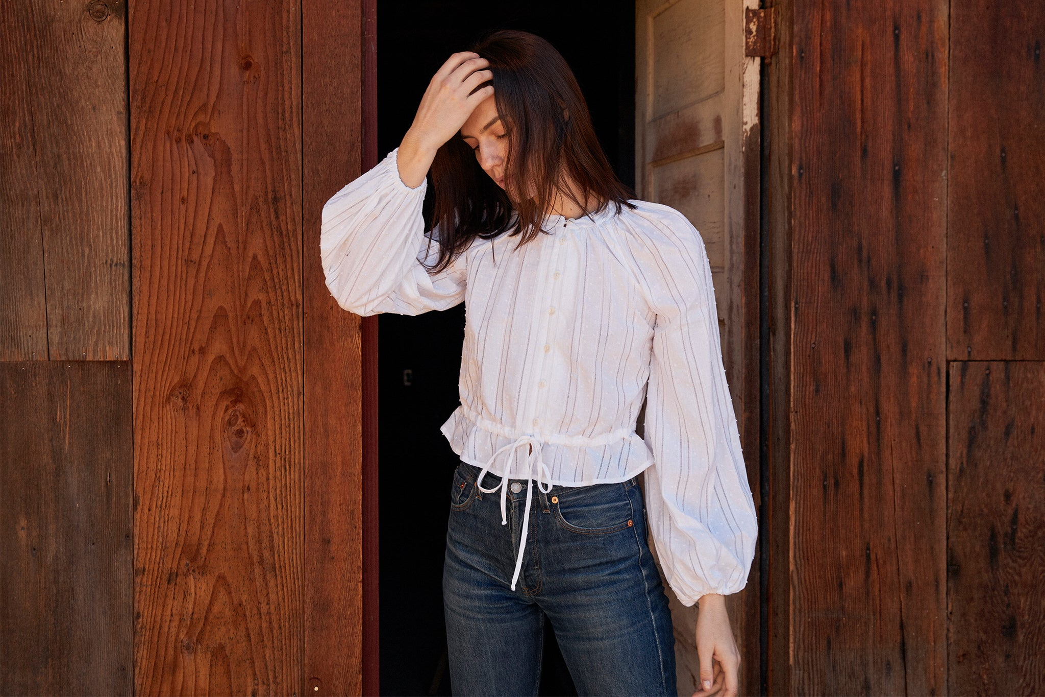 The Josephine Blouse | Alabaster