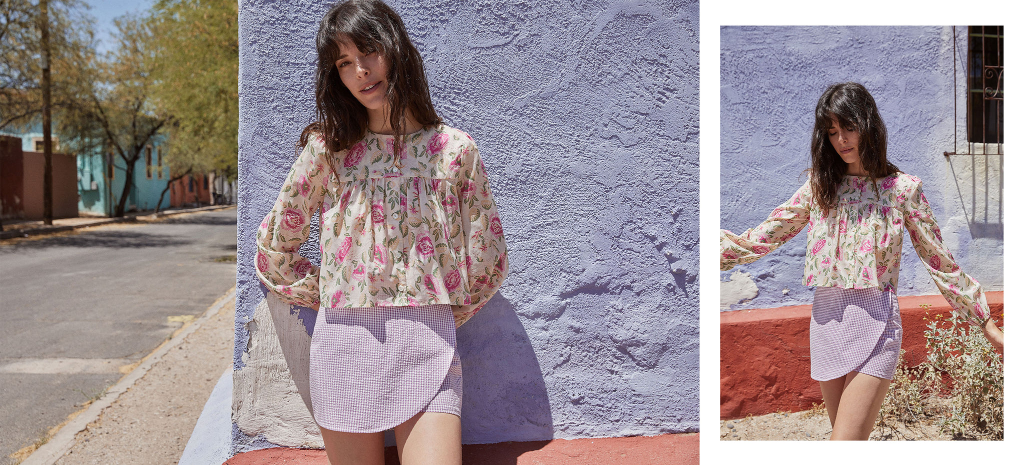 The Jaime Top | Magenta Floral