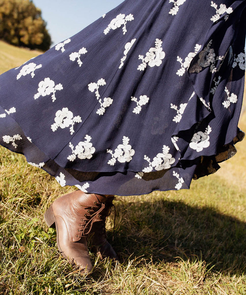 The James Skirt | Midnight Embroider