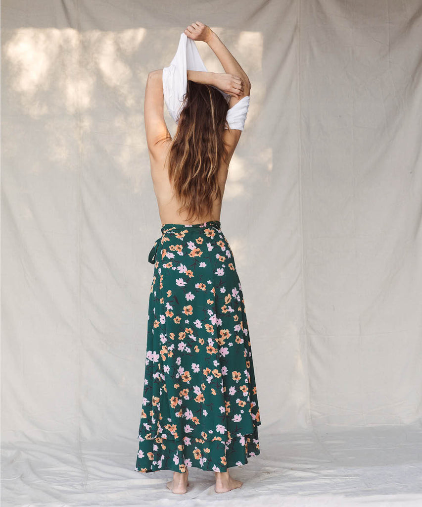 The James Skirt | Verdigris Blossom