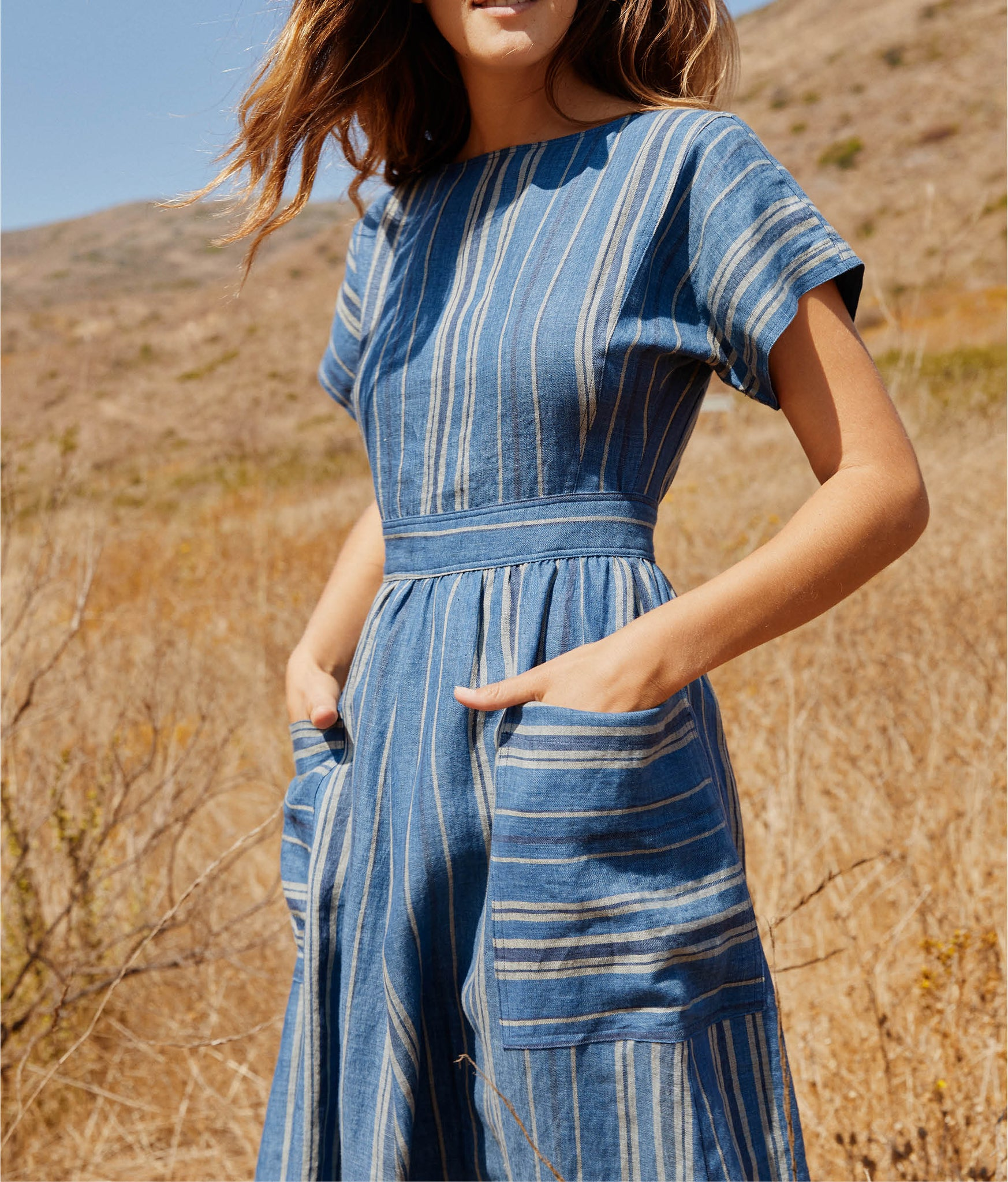 The Jane Dress | Ocean Stripe