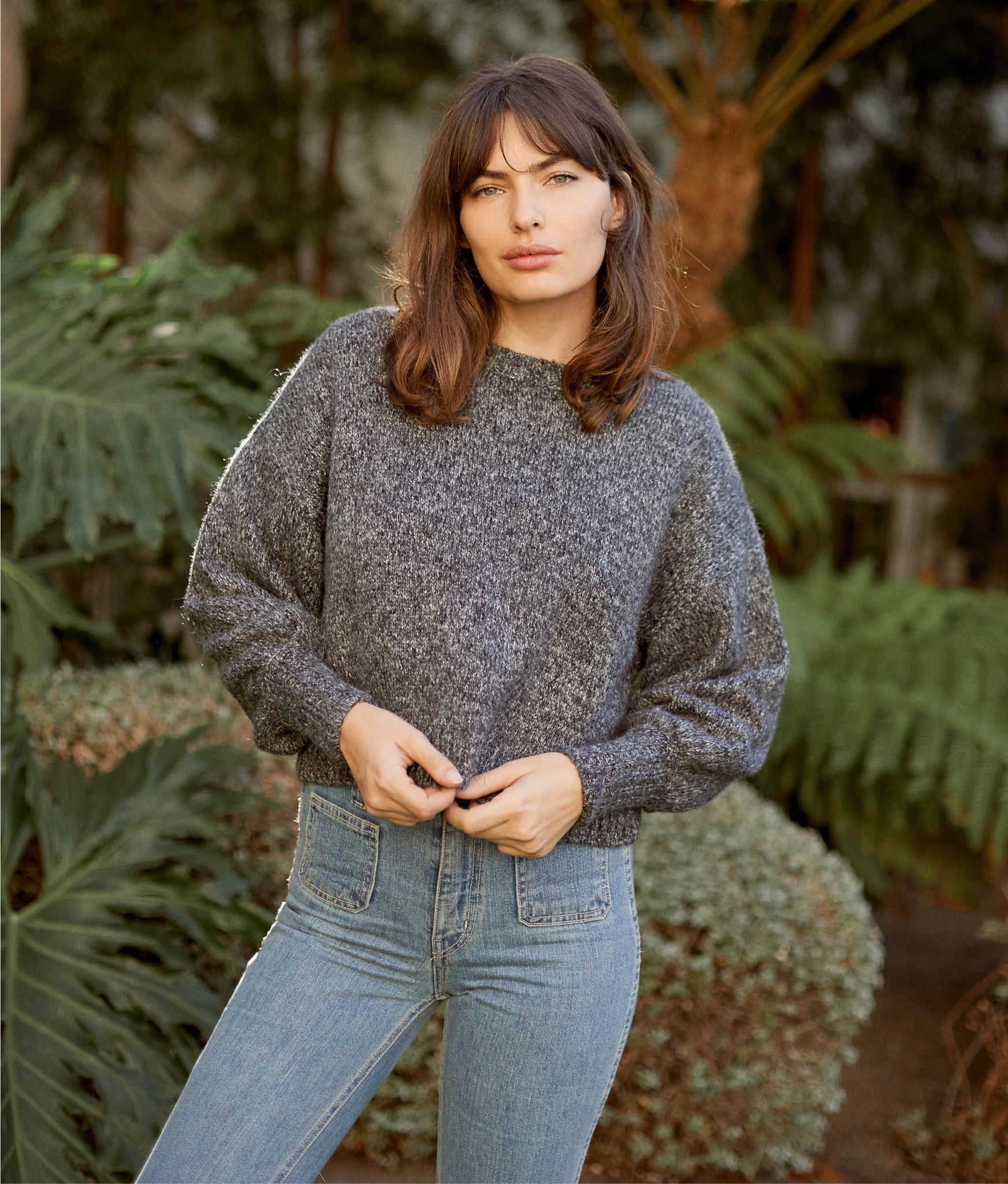 The Jane Sweater | Smoke Knit
