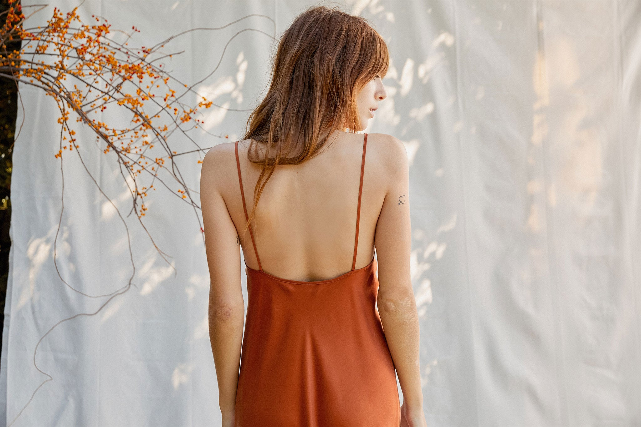 The Jasper Dress | Auburn (Silk)