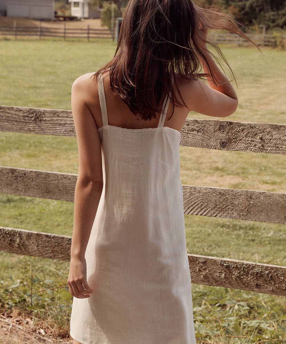 The Katherine Dress | Ivory (Linen)
