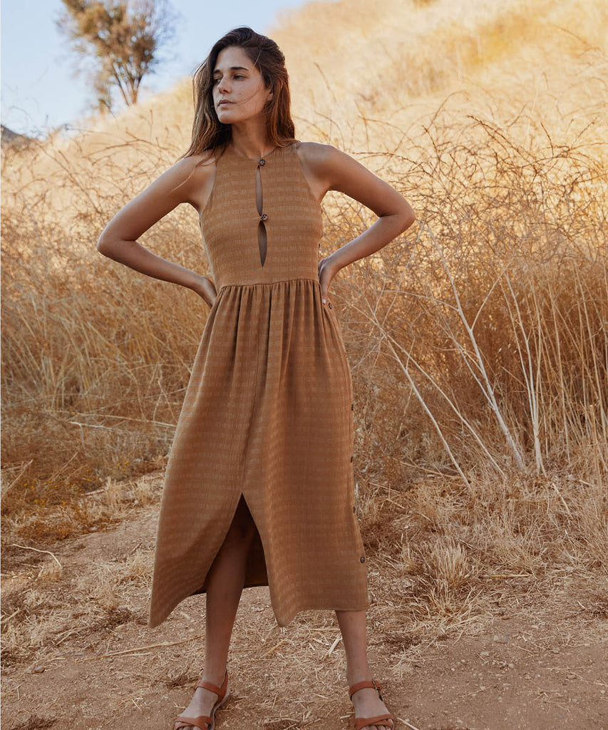 The Katie Dress | Woven Gold image 3