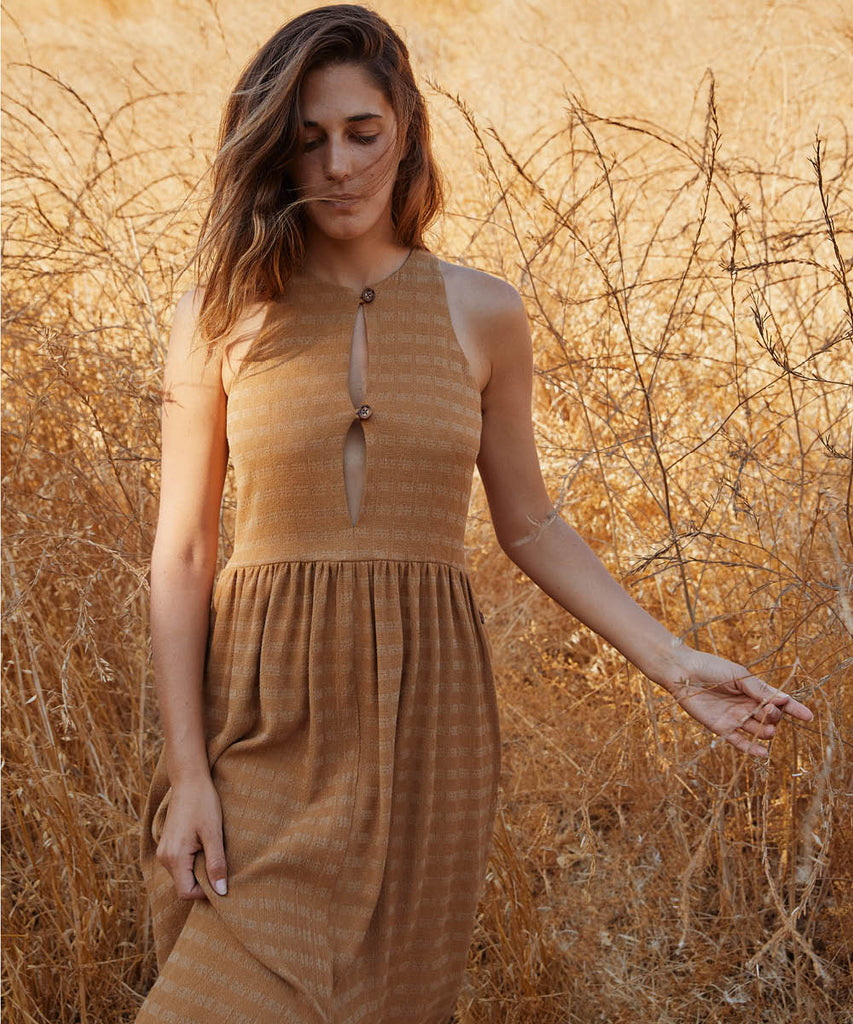 The Katie Dress | Woven Gold image 7