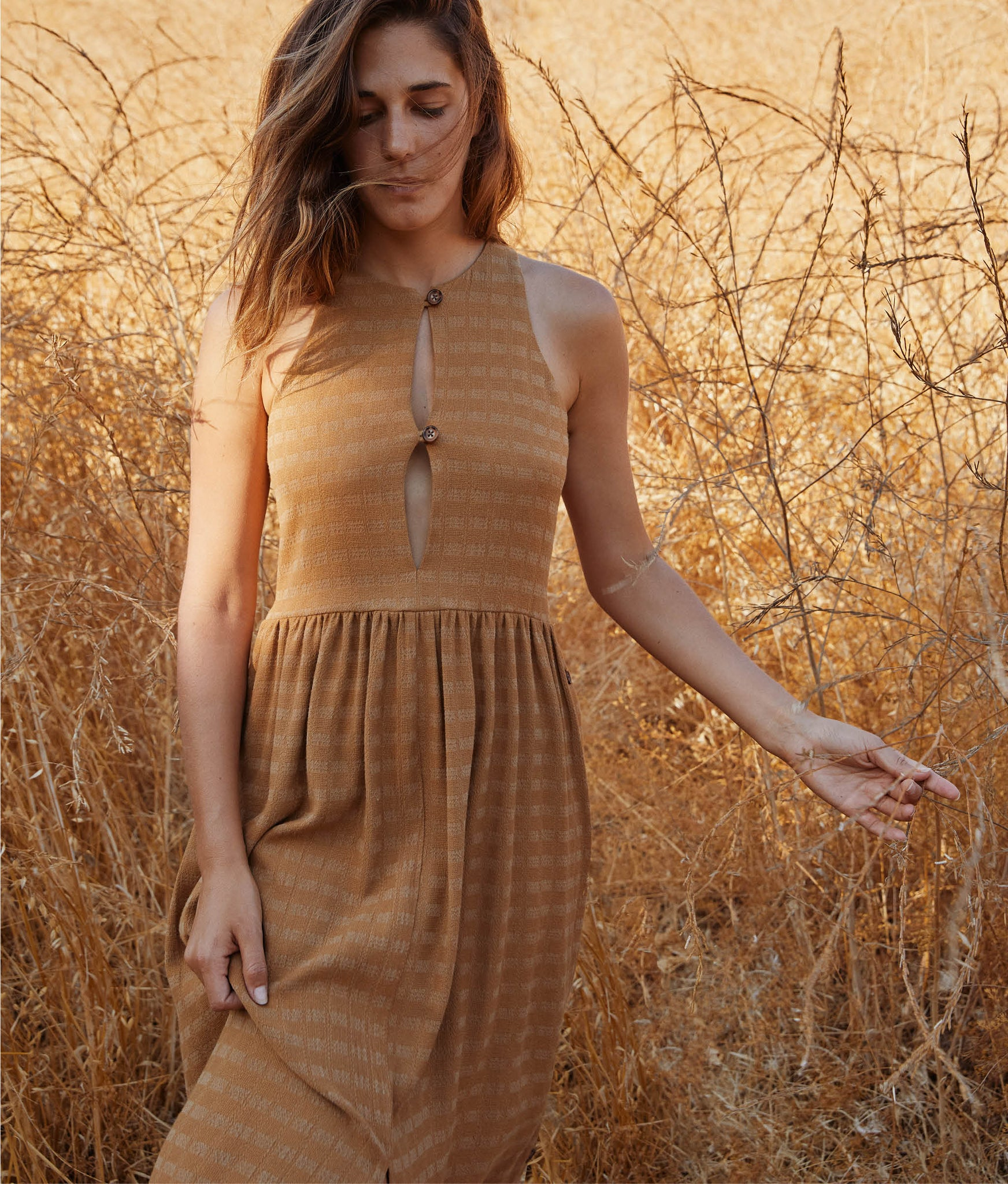 The Katie Dress | Woven Gold